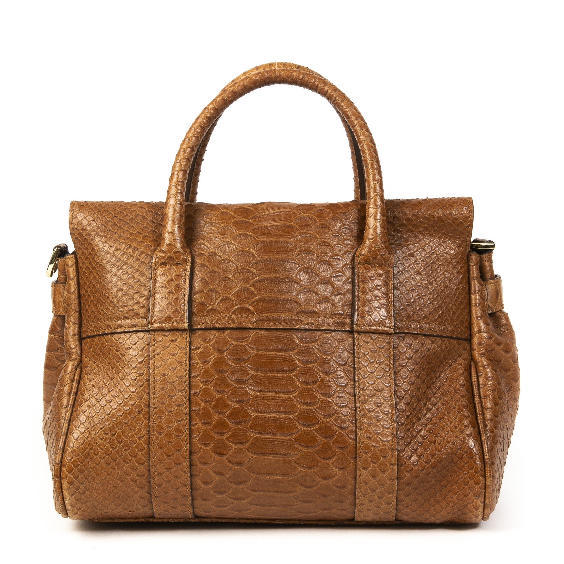 Buy this authentic second-hand vintage Mulberry Bayswater Python Mini Bag at online webshop LabelLOV