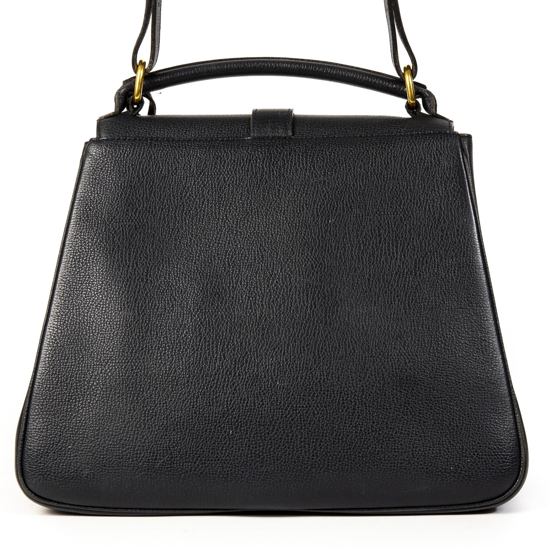 Delvaux Gin Fizz Blue Handbag