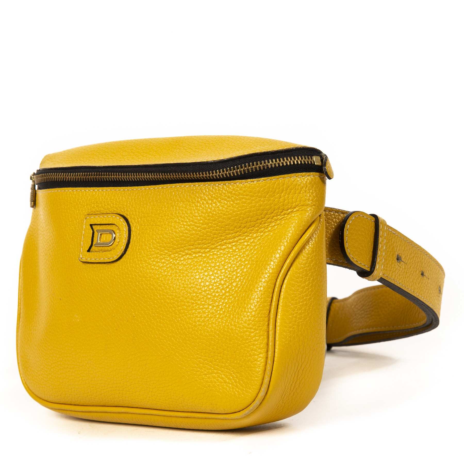shop safe online Delvaux Mustard Yellow Belt Bag