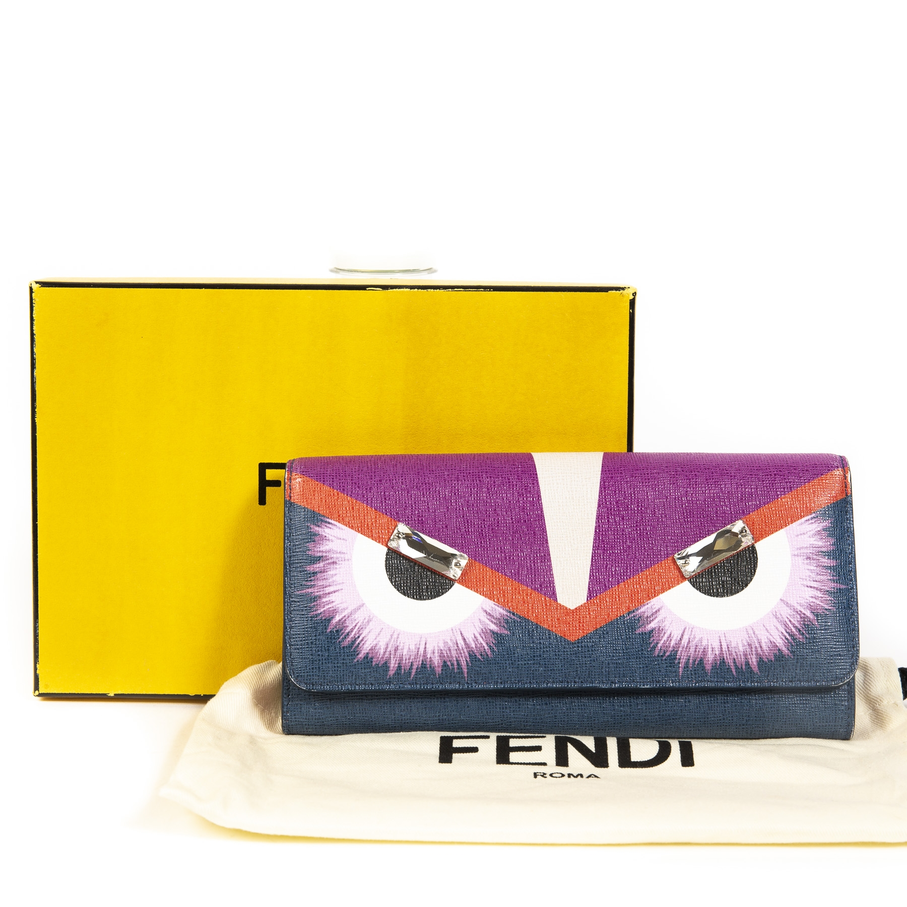 Buy this authentic second-hand vintage Fendi Continental Monster Wallet at online webshop LabelLOV