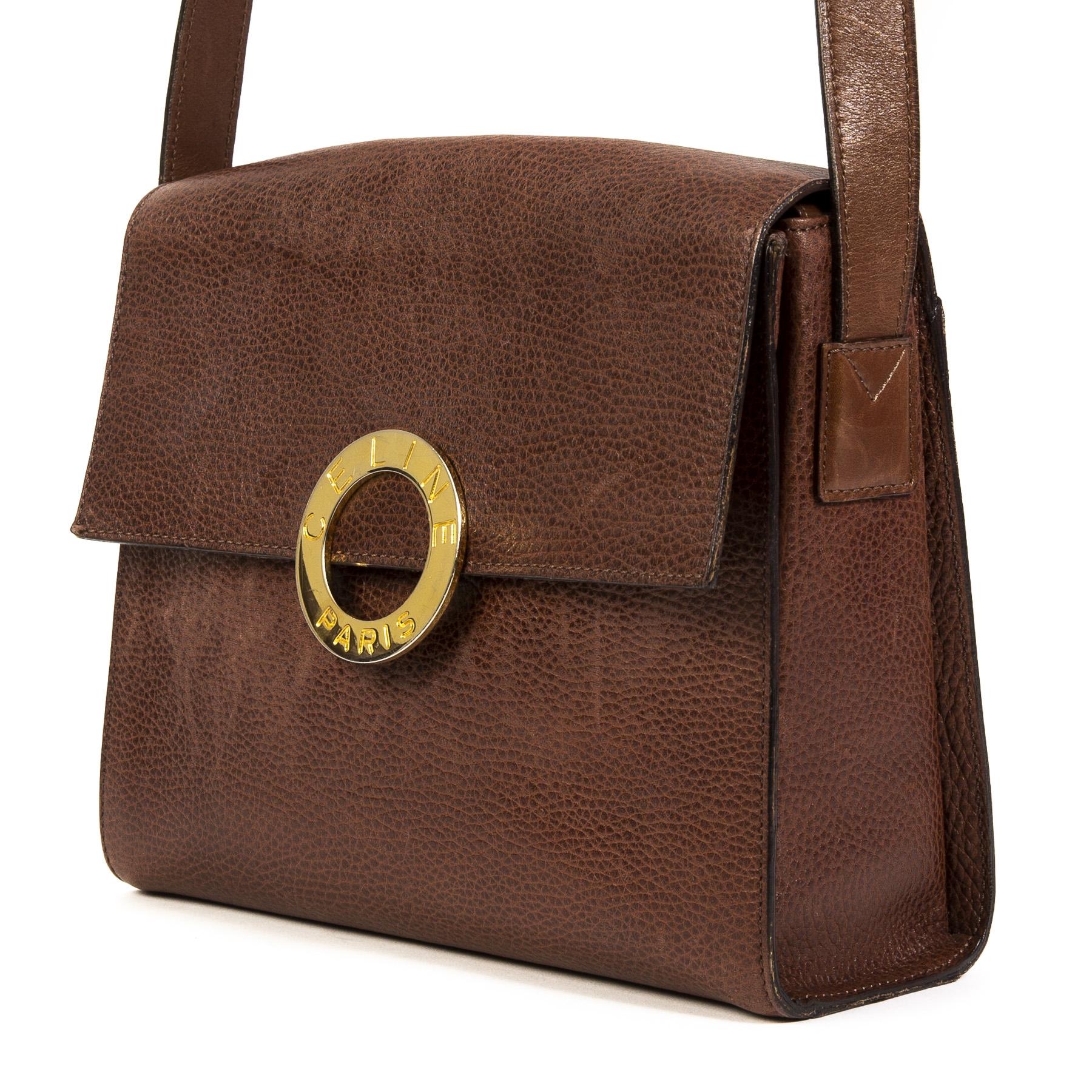 5ac8dc553cda Céline Vintage Golden Circle Crossbody Bag Buy this authentic second-hand  vintage Céline Vintage Golden Circle Crossbody Bag at online webshop