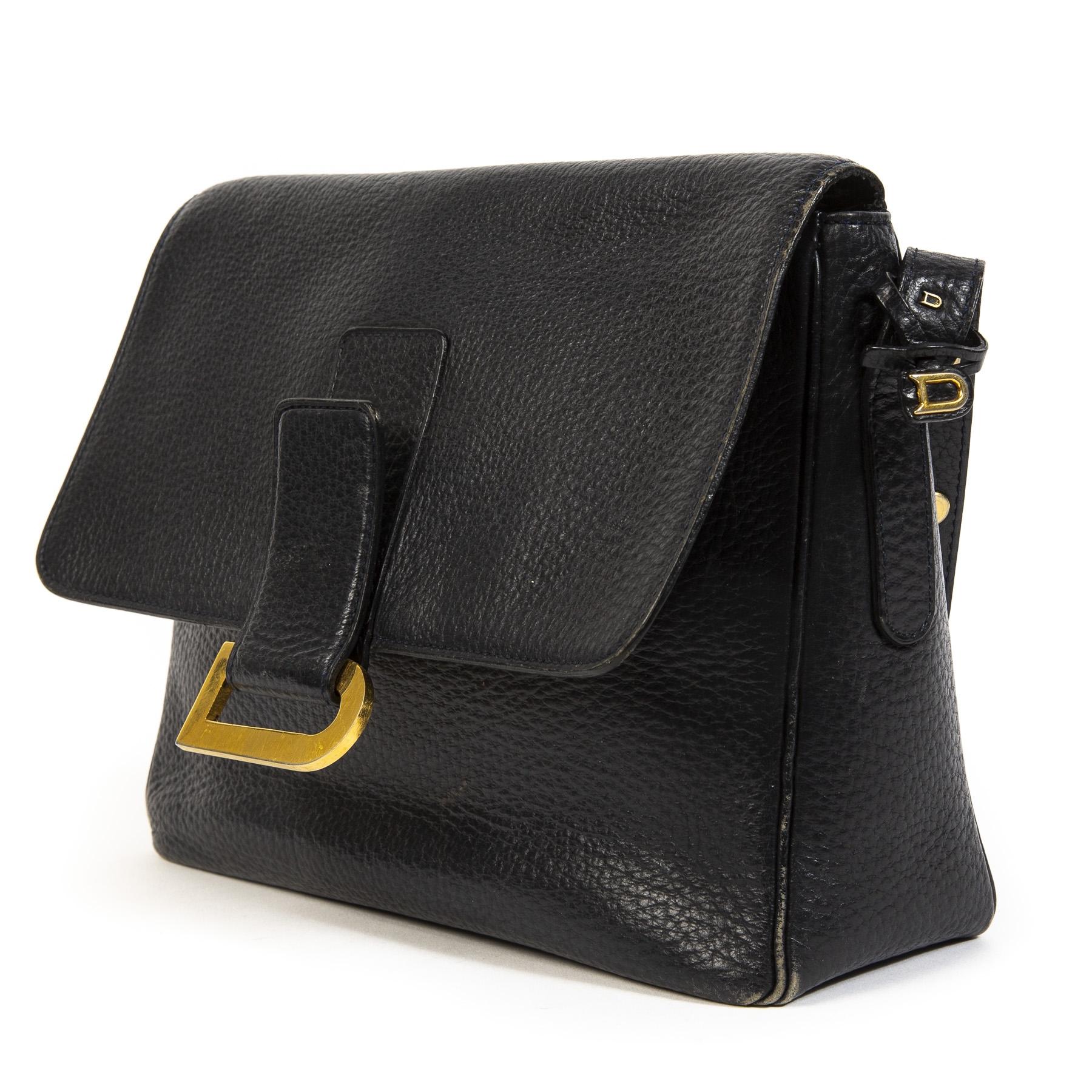 Buy this authentic second-hand vintage Delvaux Blue Poirier Shoulder Bag at online webshop LabelLOV.