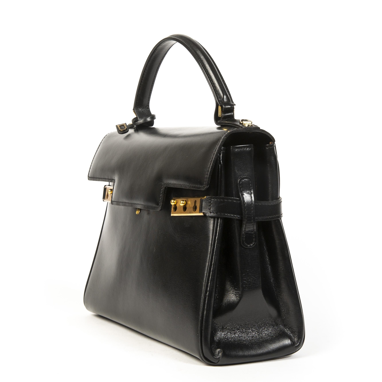 Authentieke tweedehands Delvaux zwart Tempête MM juiste prijs veilig online winkelen LabelLOV webshop luxe merken winkelen Antwerpen België mode fashion