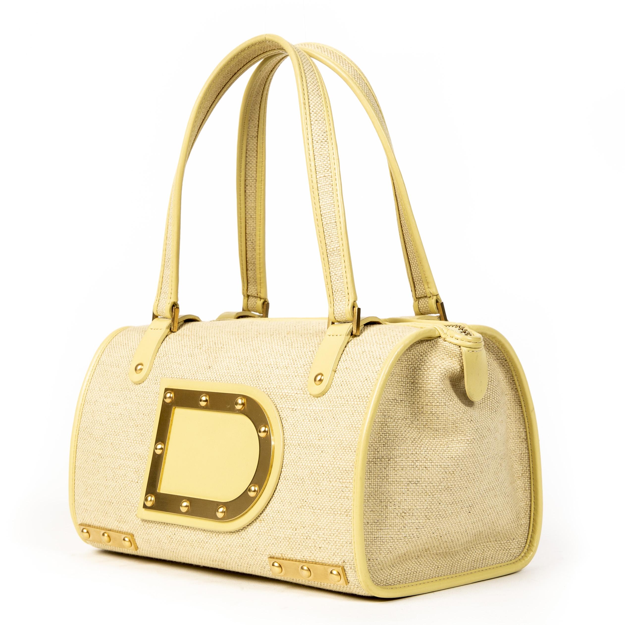 Delvaux Louise Beige Boston Bag
