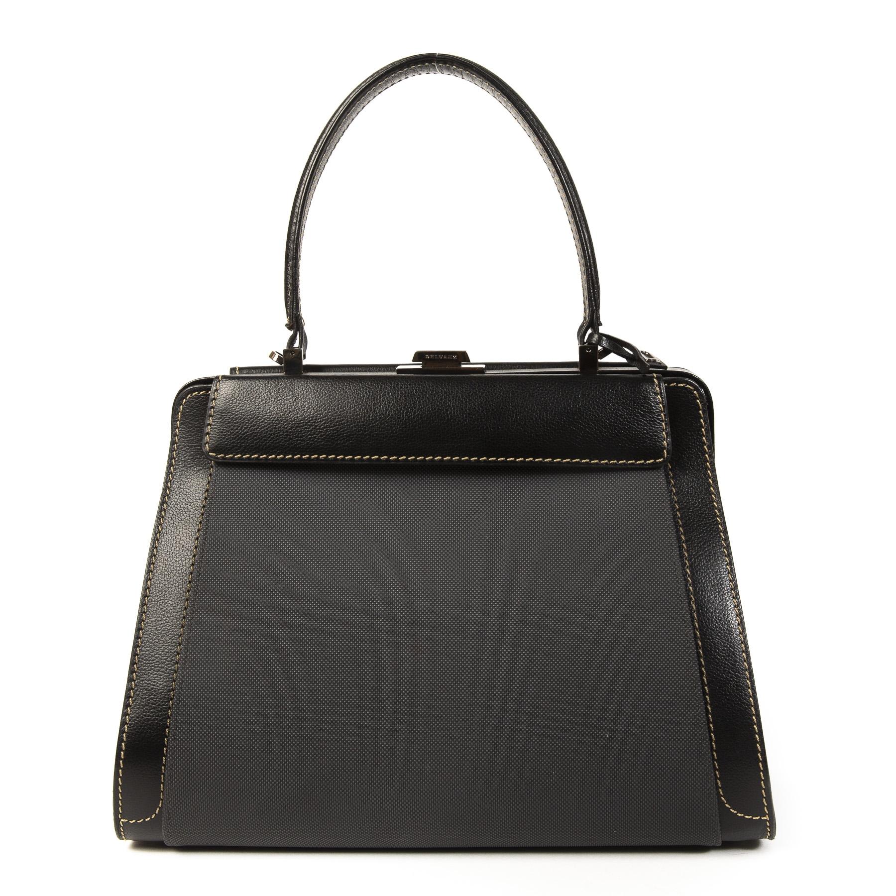 Authentieke Tweedehands Delvaux Black Illusion Bag juiste prijs veilig online shoppen luxe merken webshop winkelen Antwerpen België mode fashion