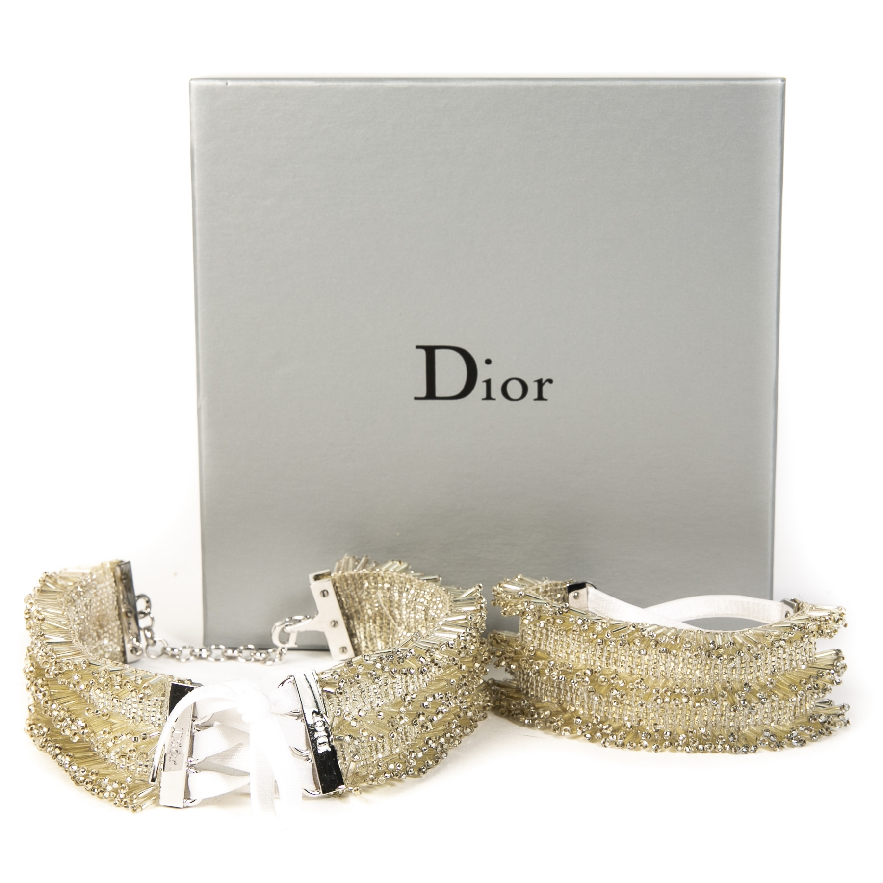 Authentique seconde main vintage Dior Beaded Necklace Bracelet and Earrings Set achète en ligne webshop LabelLOV