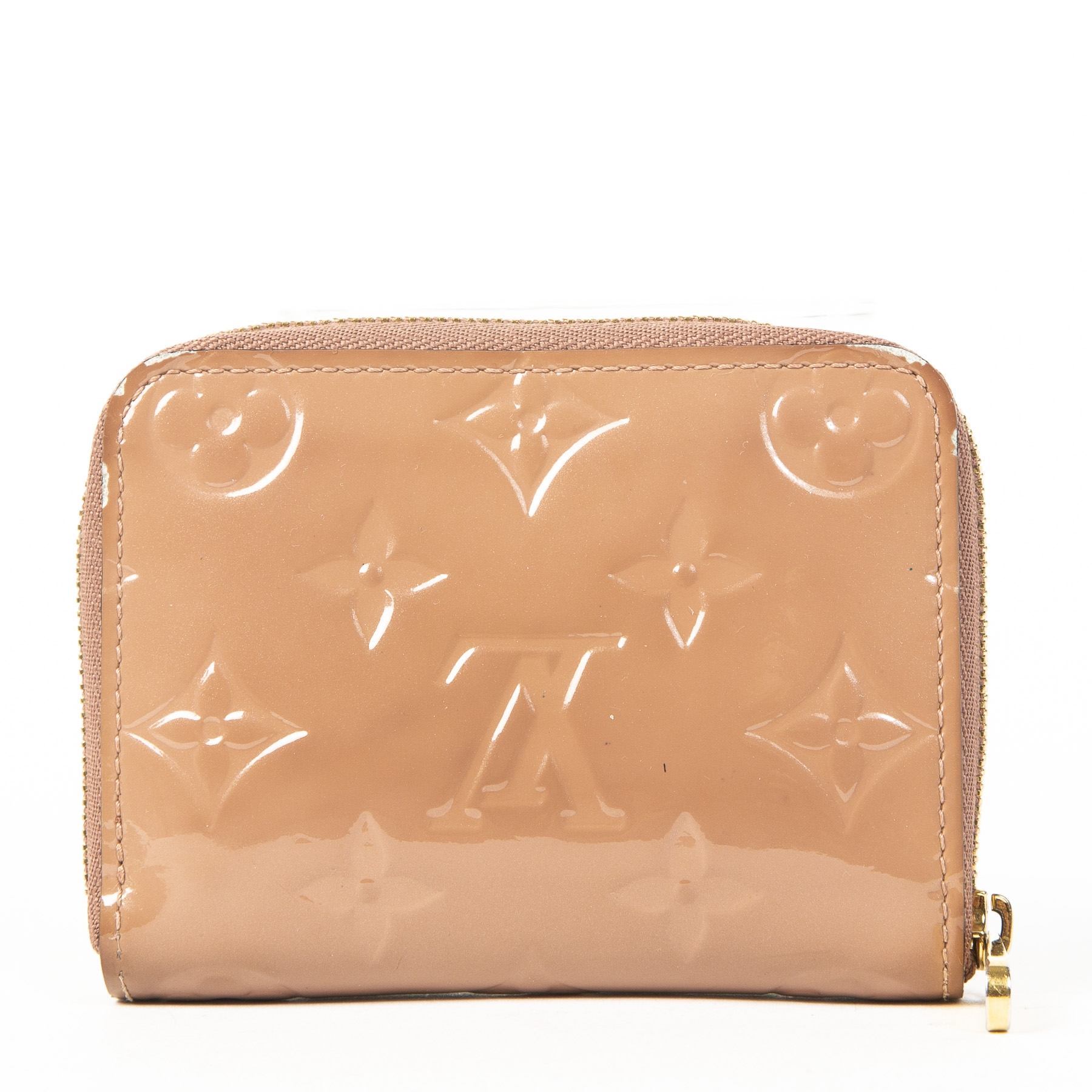 Louis Vuitton Vernis Zippy Compact Wallet Vieux Rose