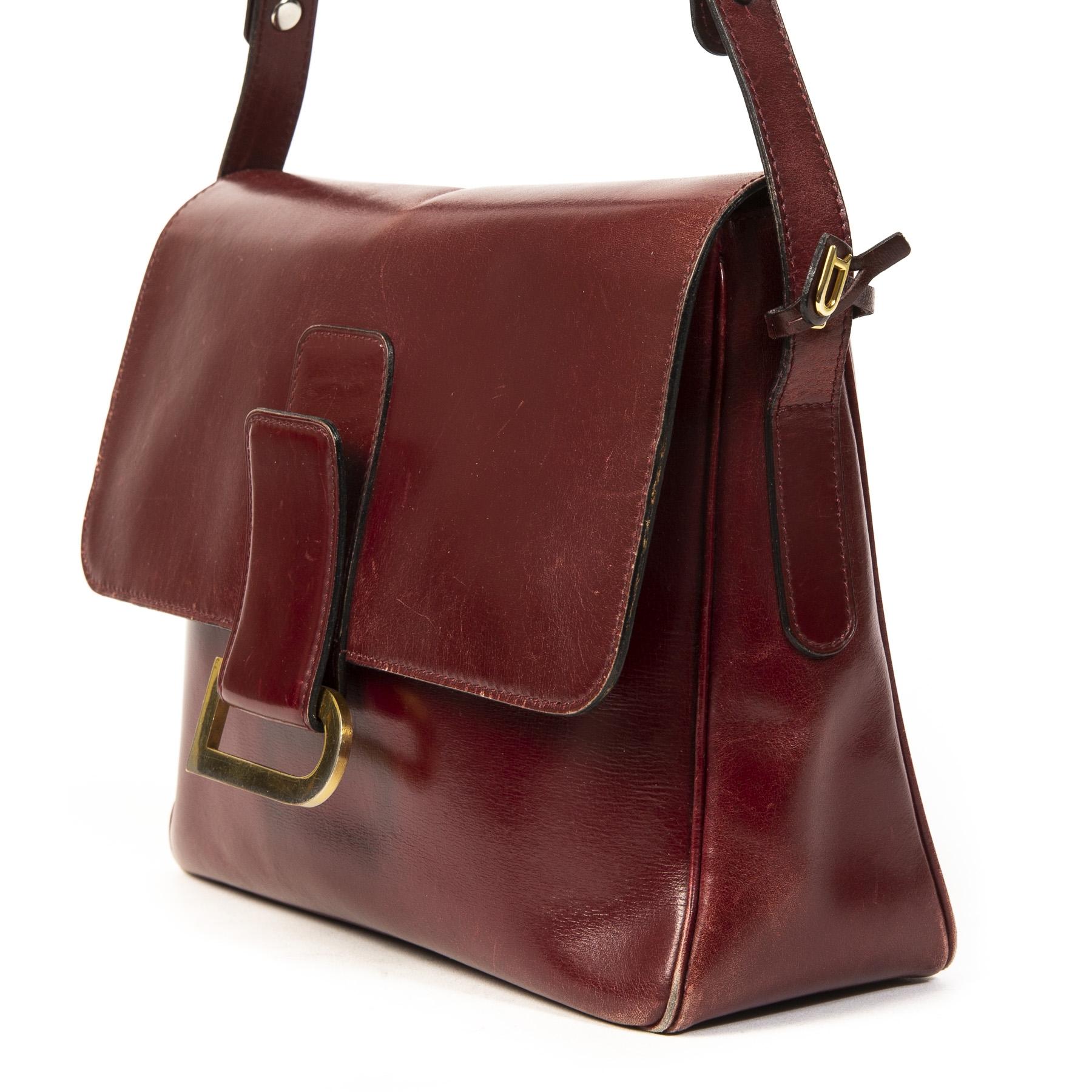 Delvaux Burgundy Passerelle Shoulder Bag