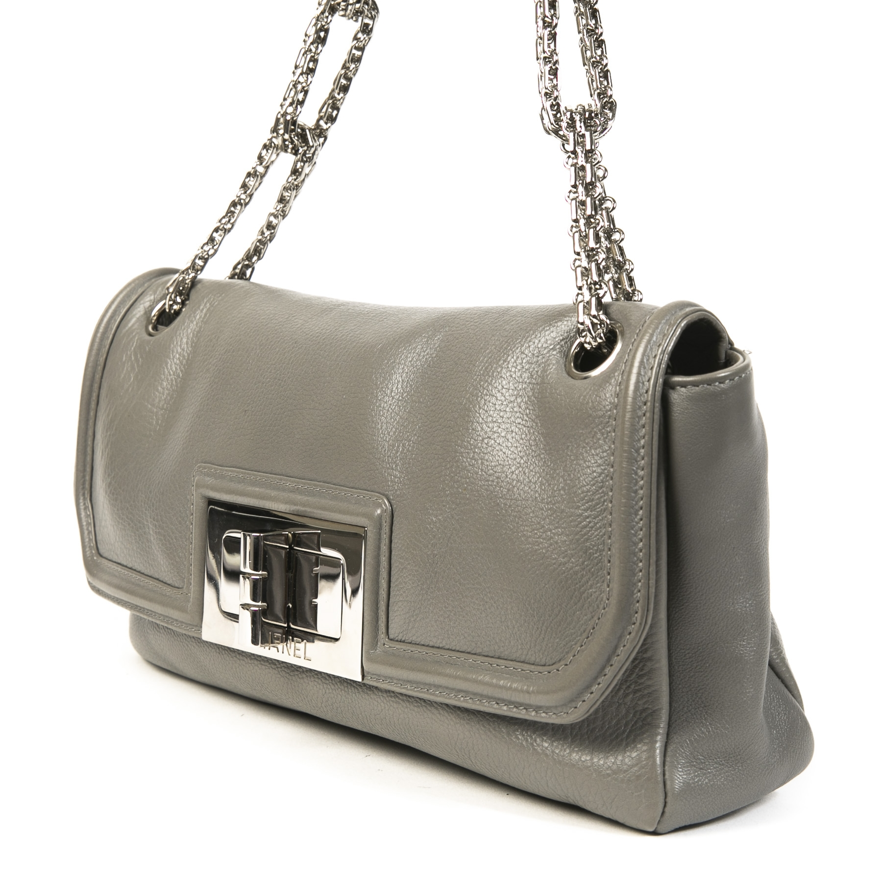 Chanel Charcoal Grey Flap Bag