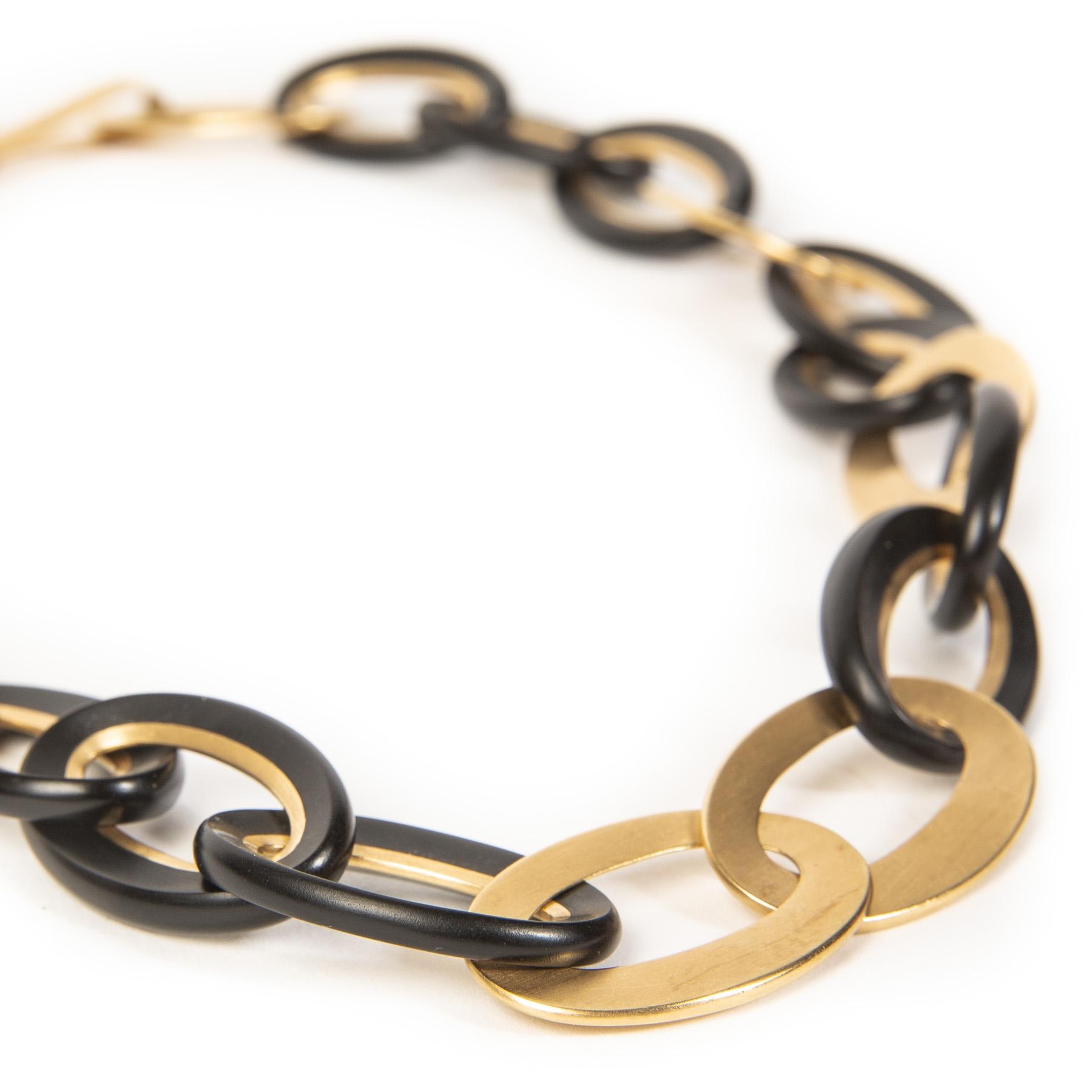 Authentieke Tweedehands Pomellato Chain Victoria Rose Gold Necklace juiste prijs veilig online shoppen luxe merken webshop winkelen Antwerpen België mode fashion