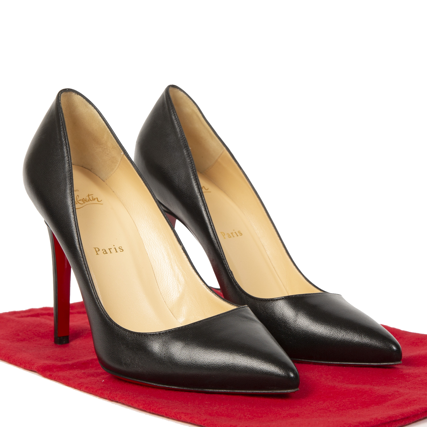 Christian Louboutin Pigalle 100 Nappa Shiny Black Pumps