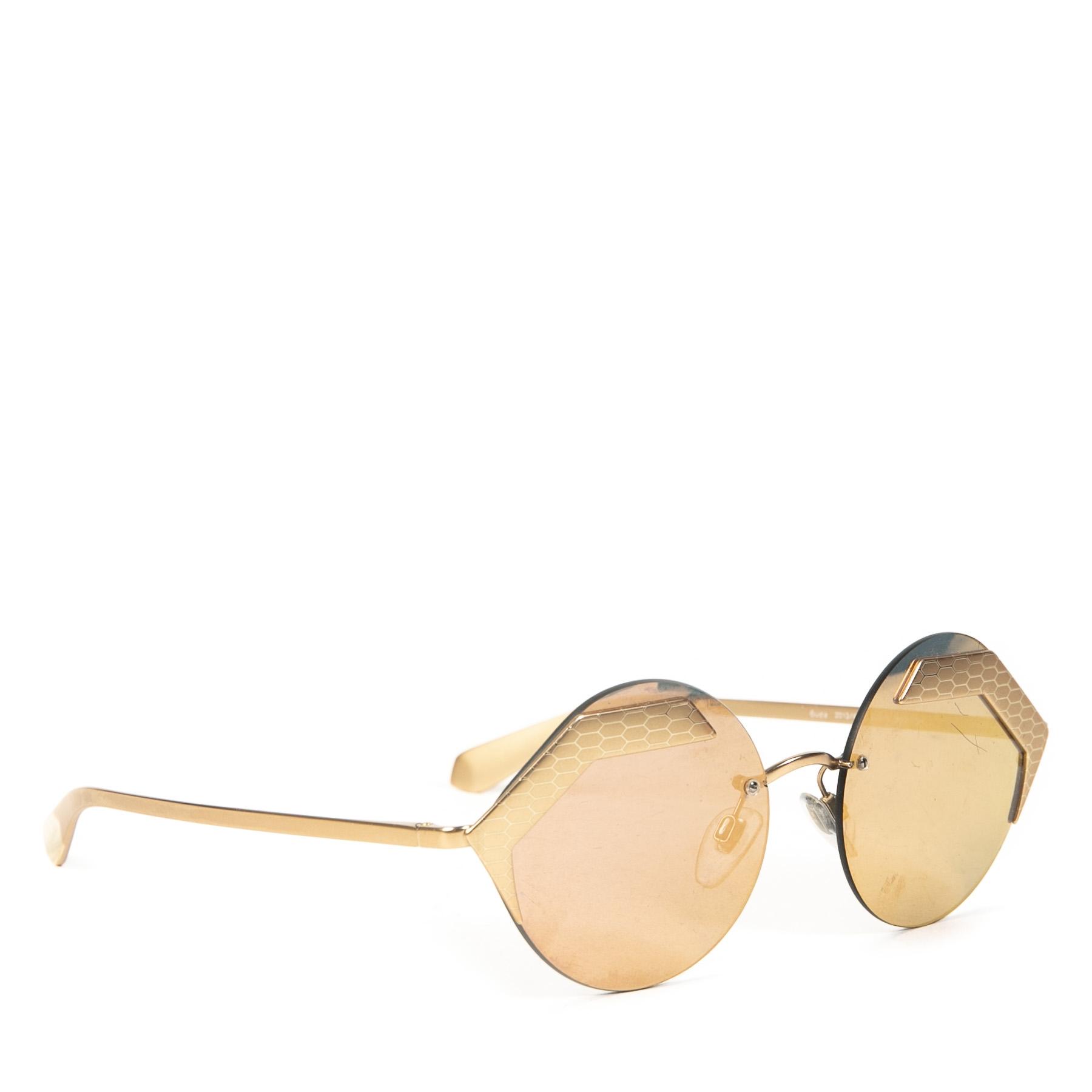 Authentieke Tweedehands Bulgari Silver Serpenti Sunglasses juiste prijs veilig online shoppen luxe merken webshop winkelen Antwerpen België mode fashion