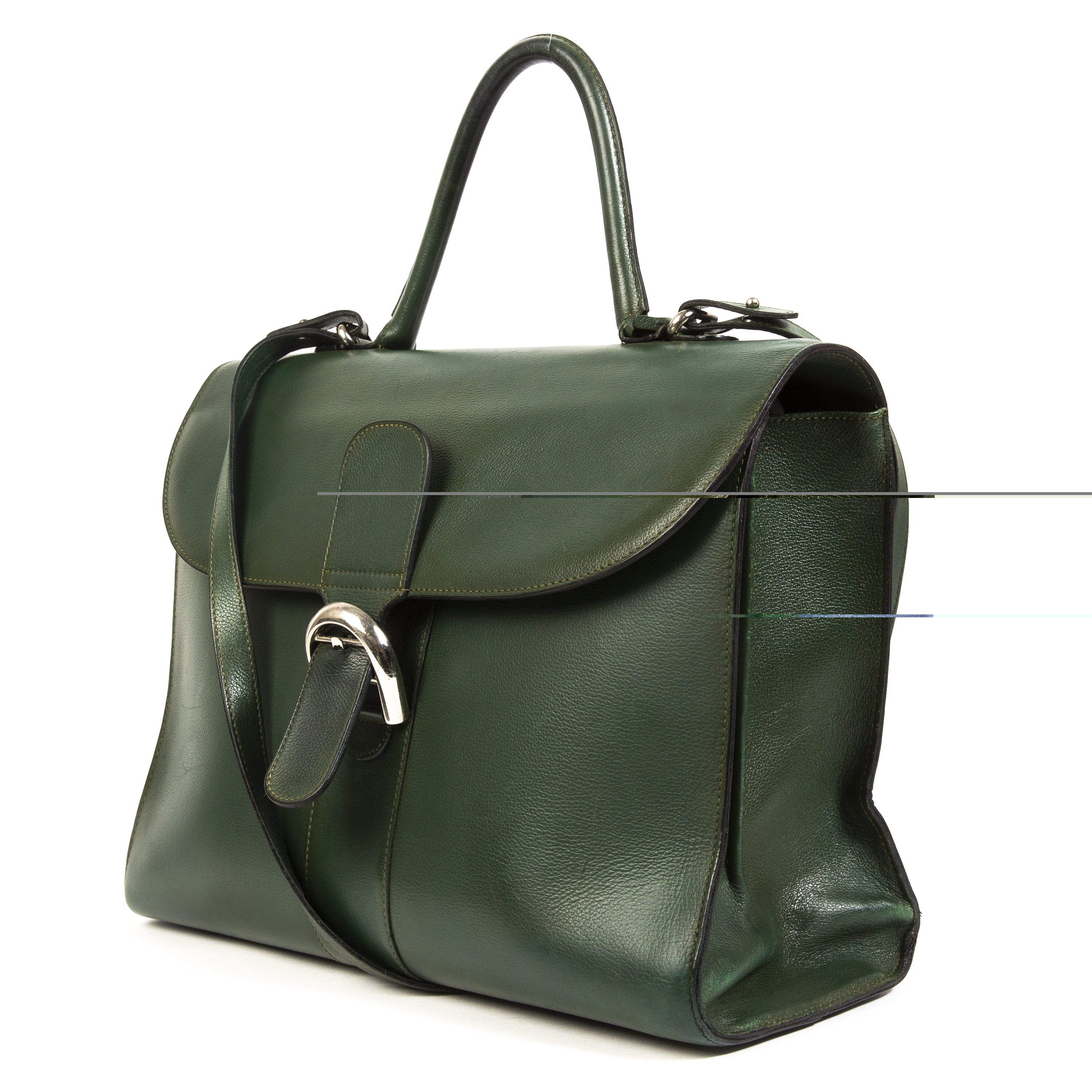 373e93ca97d6be Delvaux Green Brillant GM Buy this authentic second-hand vintage Delvaux  Green Brillant GM at online webshop LabelLOV.
