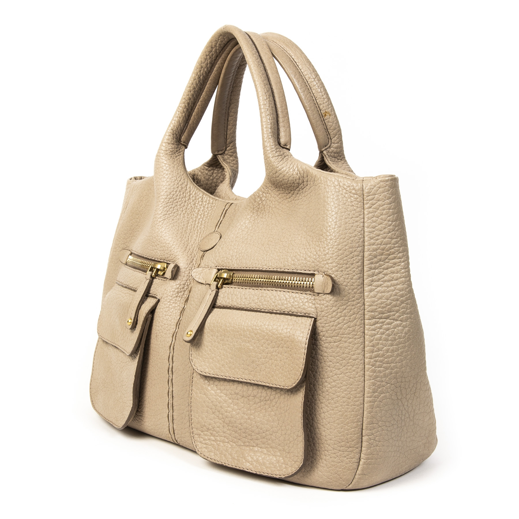 9afed8c8b91 ... veilige Tods Taupe Top Handle Bag. Buy authentic secondhand TODS bags  at labellov antwerp, veilige
