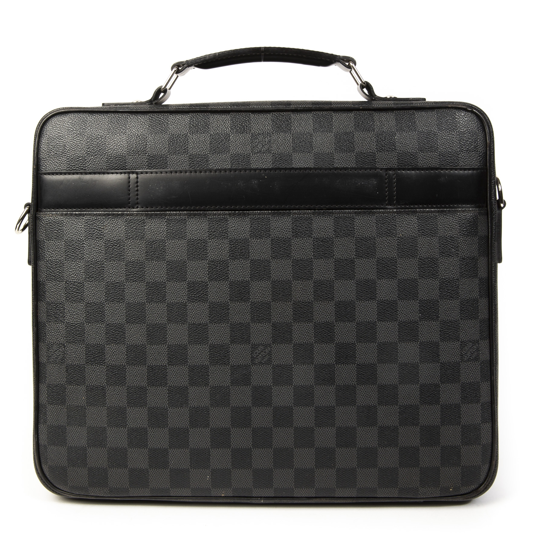 1ae9f4fae6e ... Buy and sell your Louis Vuitton Steeve Laptop Bag Damier Graphite for  the best price at