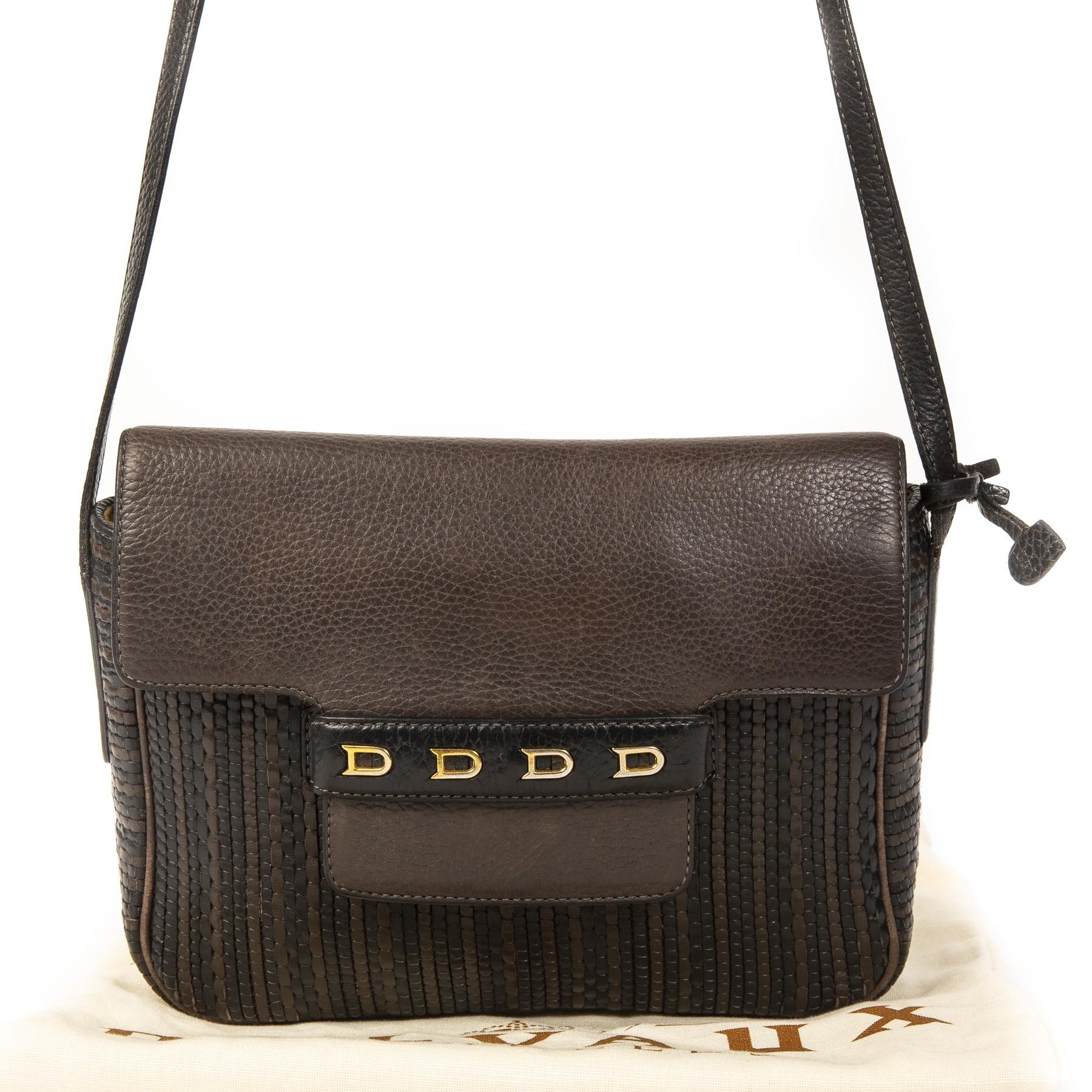 Delvaux Toile de Cuir Brown and Black Bag