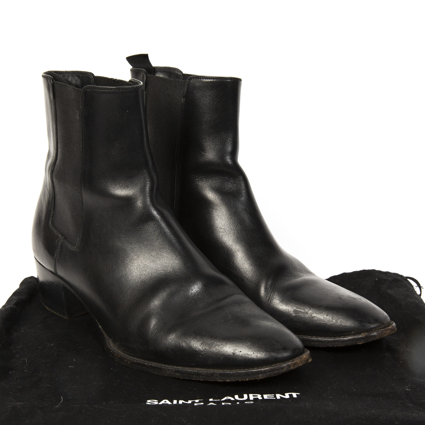 b84bba4e1ae Buy authentic designer YSL secondhand shoes Yves Saint Laurent Black Ankle  Boots - Size 39. Buy authentic designer YSL secondhand shoes