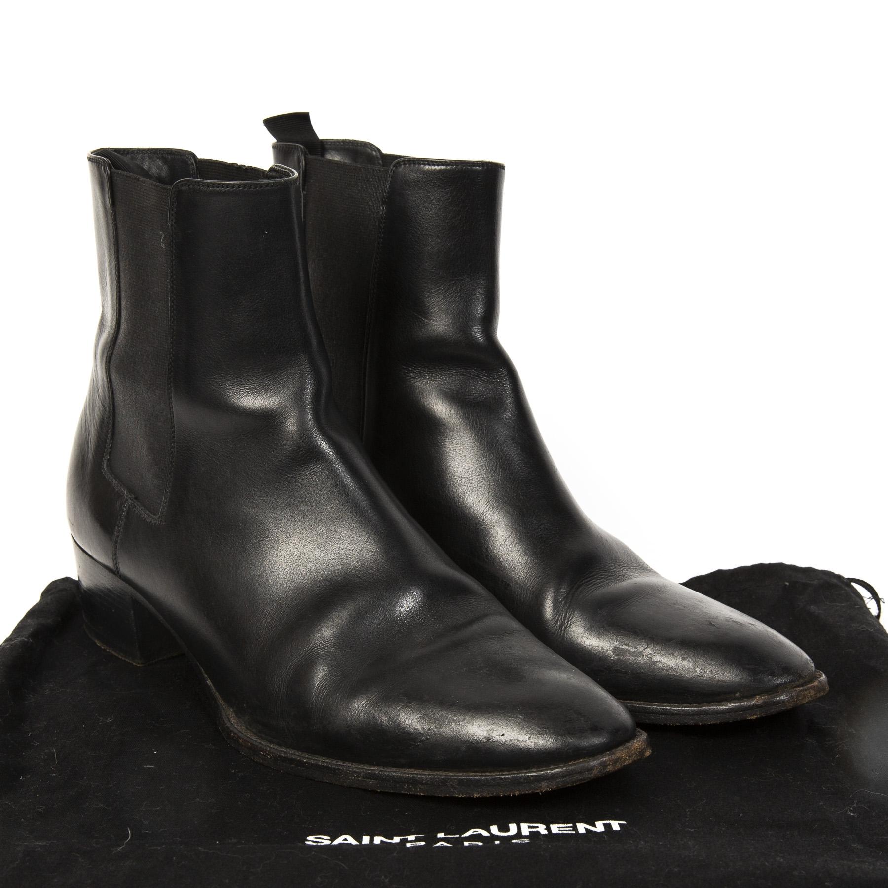 0ba6a67ce93 Buy authentic designer YSL secondhand shoes Yves Saint Laurent Black Ankle  Boots - Size 39. Buy authentic designer YSL secondhand shoes