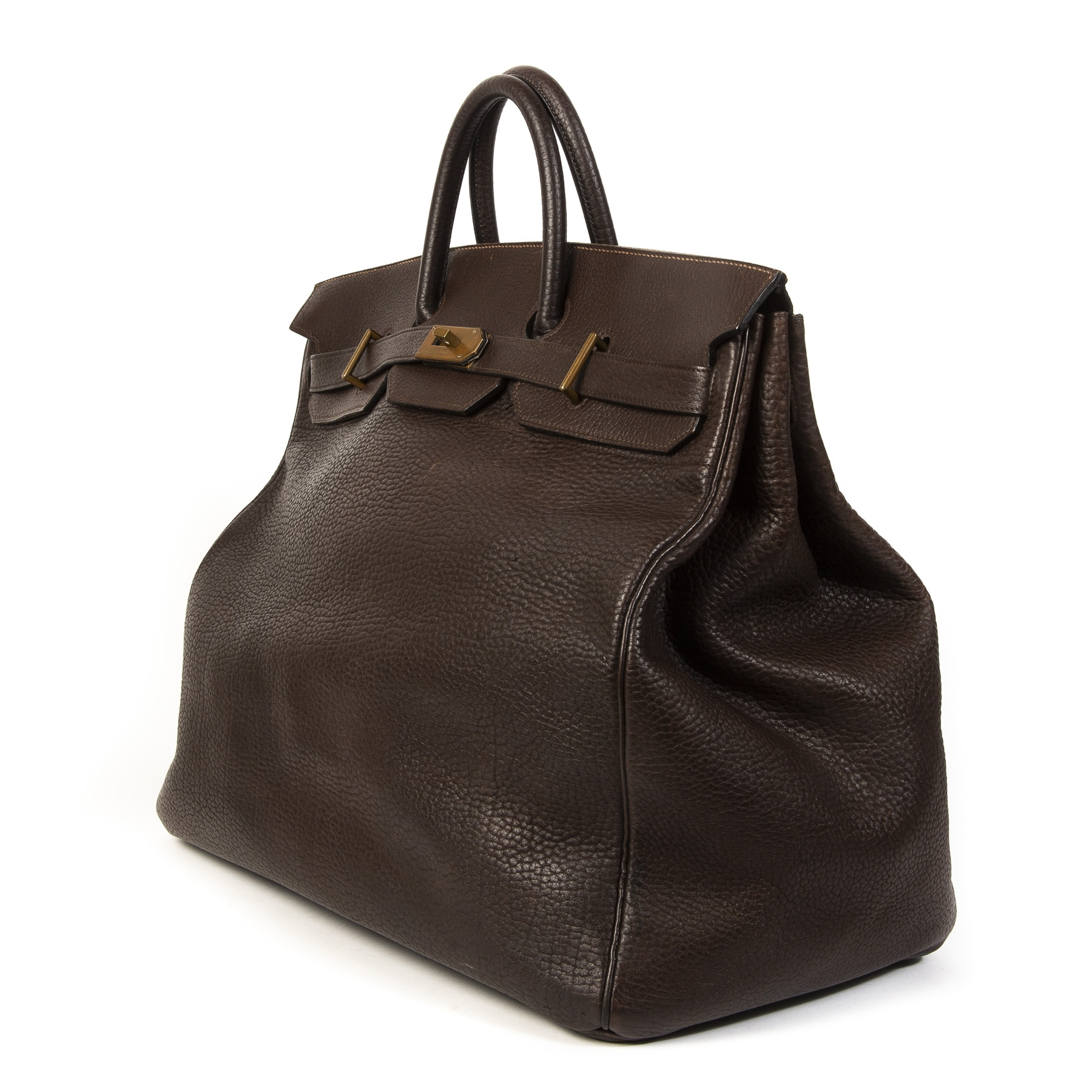koop veilig online tegen de beste prijs Hermès Birkin HAC 55 Dark Brown