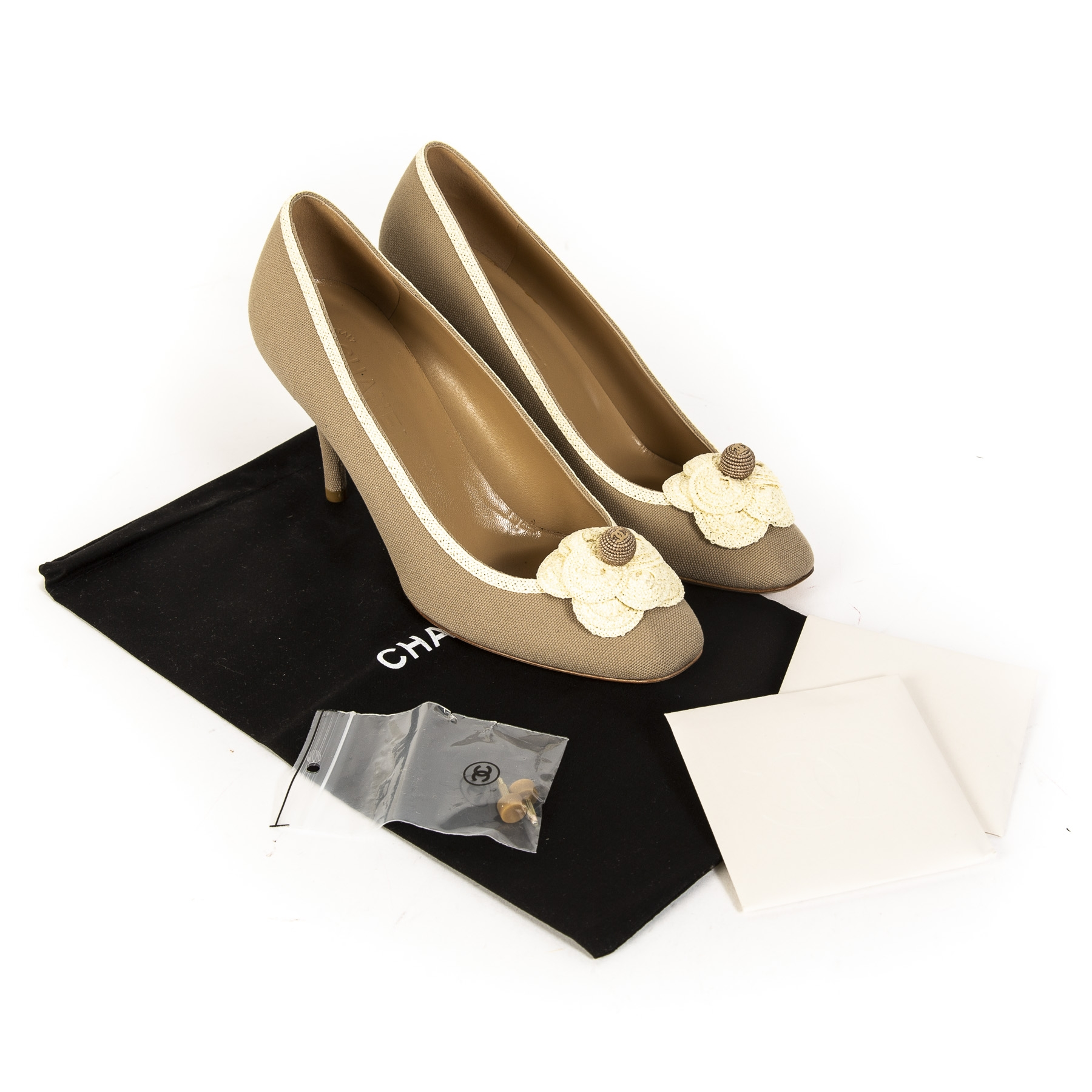 Chanel Beige Coco Pumps - Size 39