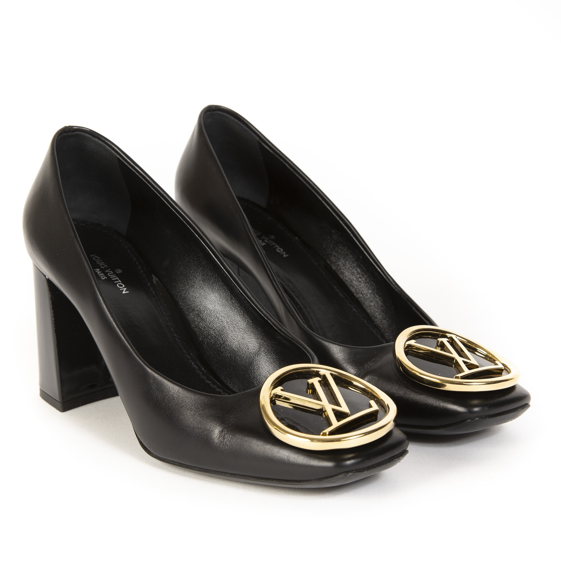 Louis Vuitton Black Madeleine Pump