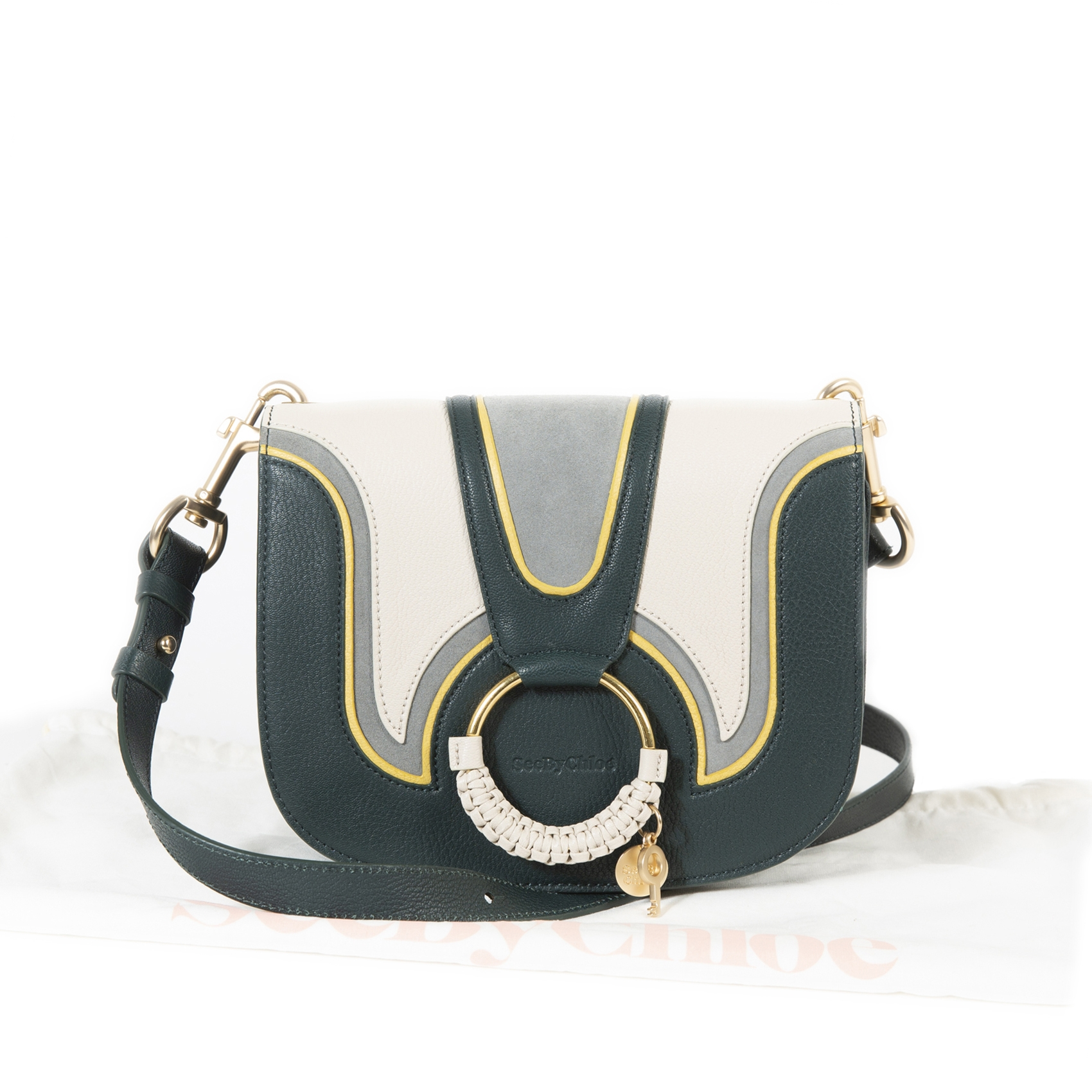 see by chloe green hana medium corssbody bag now for sale at labellov