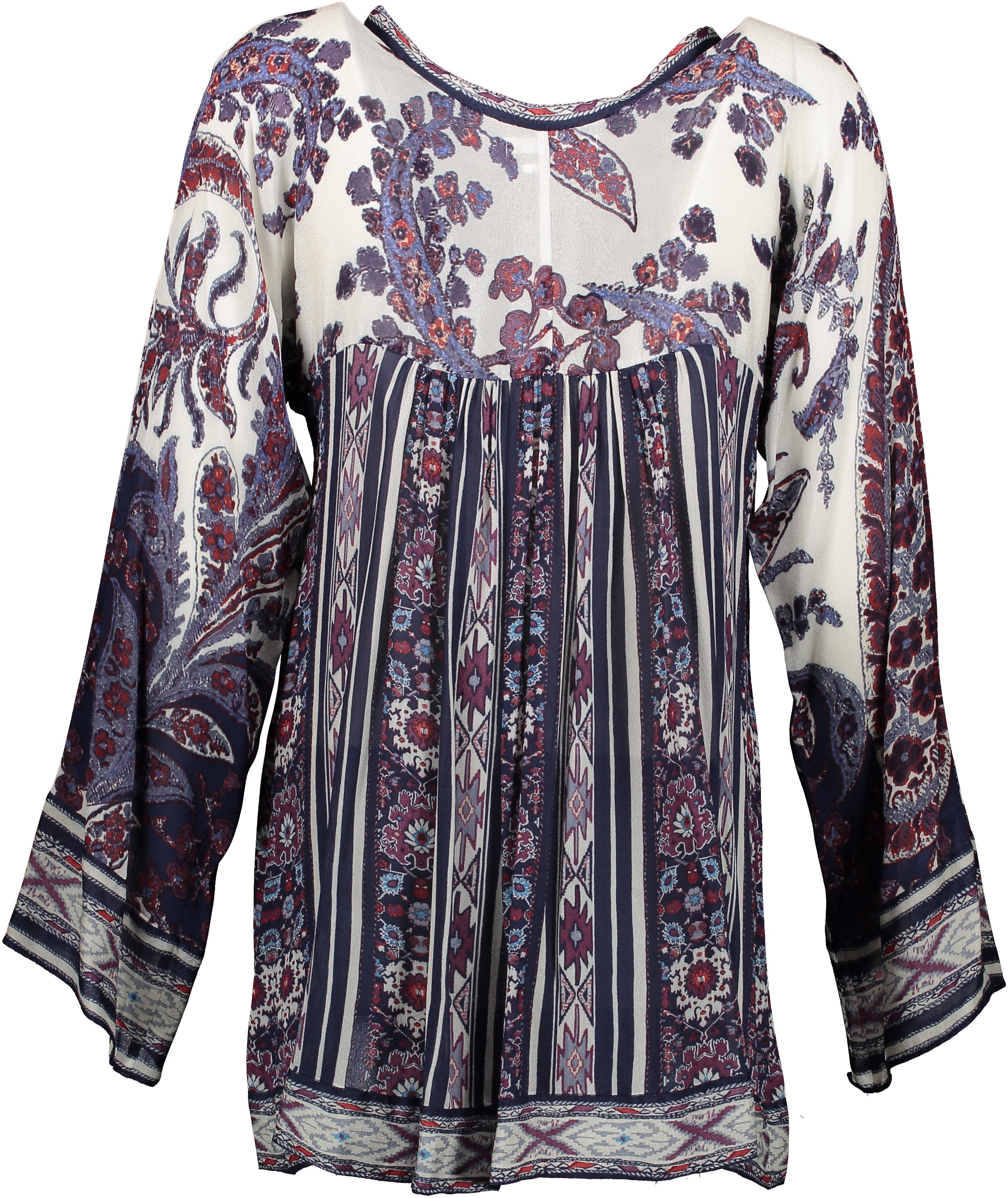 Isabel Marant Étoile Long Sleeve V-neck Blouse - SIZE 1. Buy authentic secondhand clothing from Isabel Marant online at LabelLOV. Safe payment. Bohemian Top.