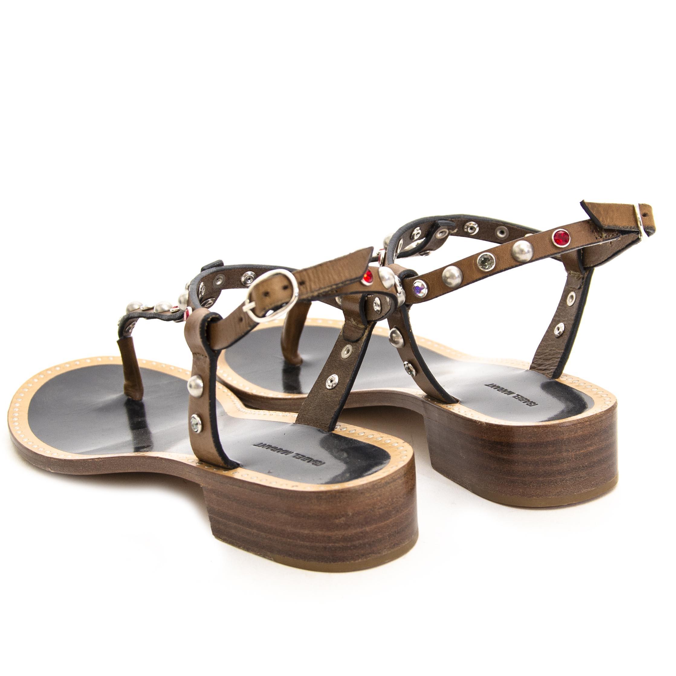 Isabel Marant Stud Sandals - Size 37 nu te koop bij labellov vintage mode webshop belgië