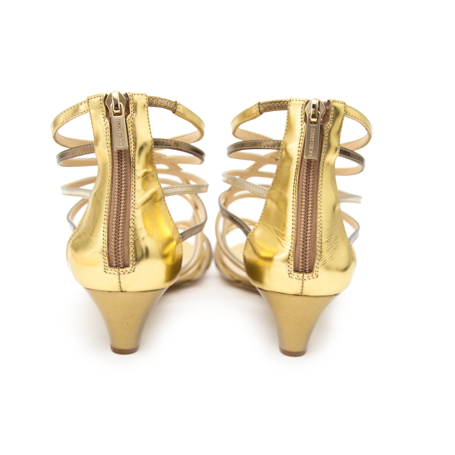 Buy secondhand Jimmy Choo Gold Sandals 39,5 online