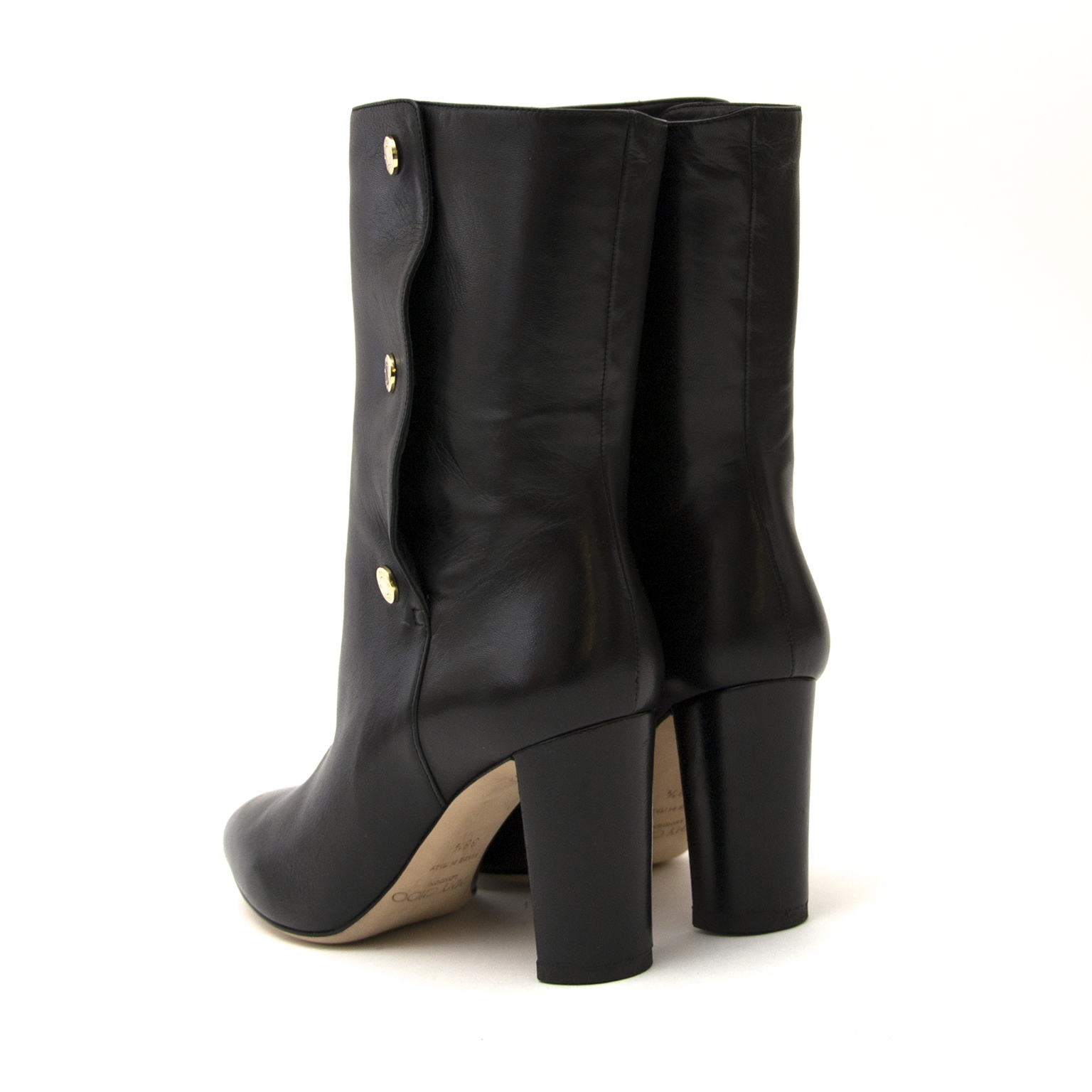 jimmy choo black dayno boots now for sale at labellov vintage fashion webshop belgium
