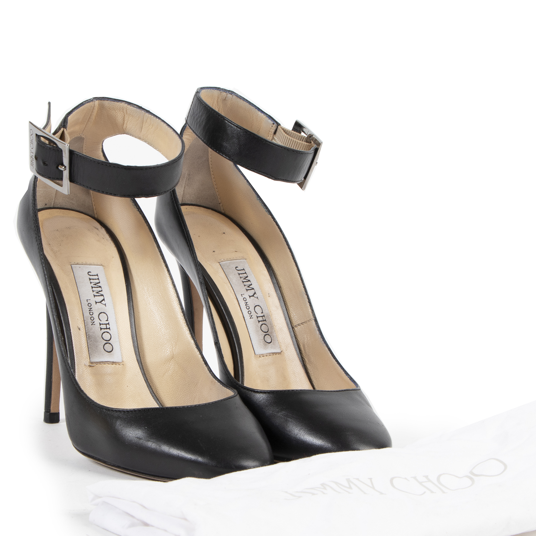 We buy and sell your authentic designer Jimmy Choo Helena 110 Leather Pumps