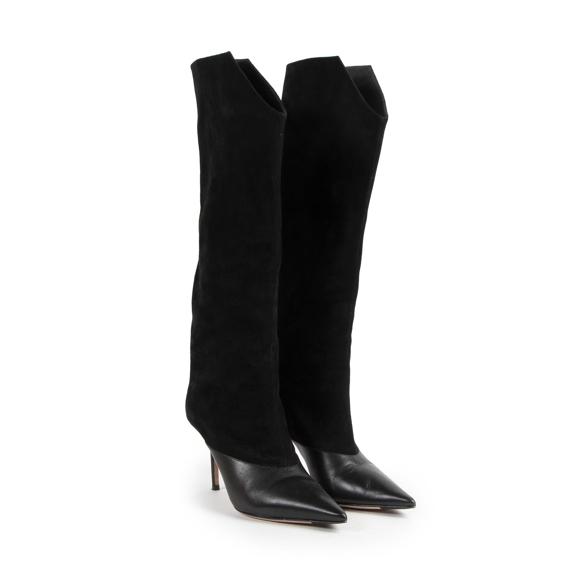 Jimmy Choo Black Brelan 85 Suède Knee High Boots pour le meilleur prix chez Labellov à Anvers