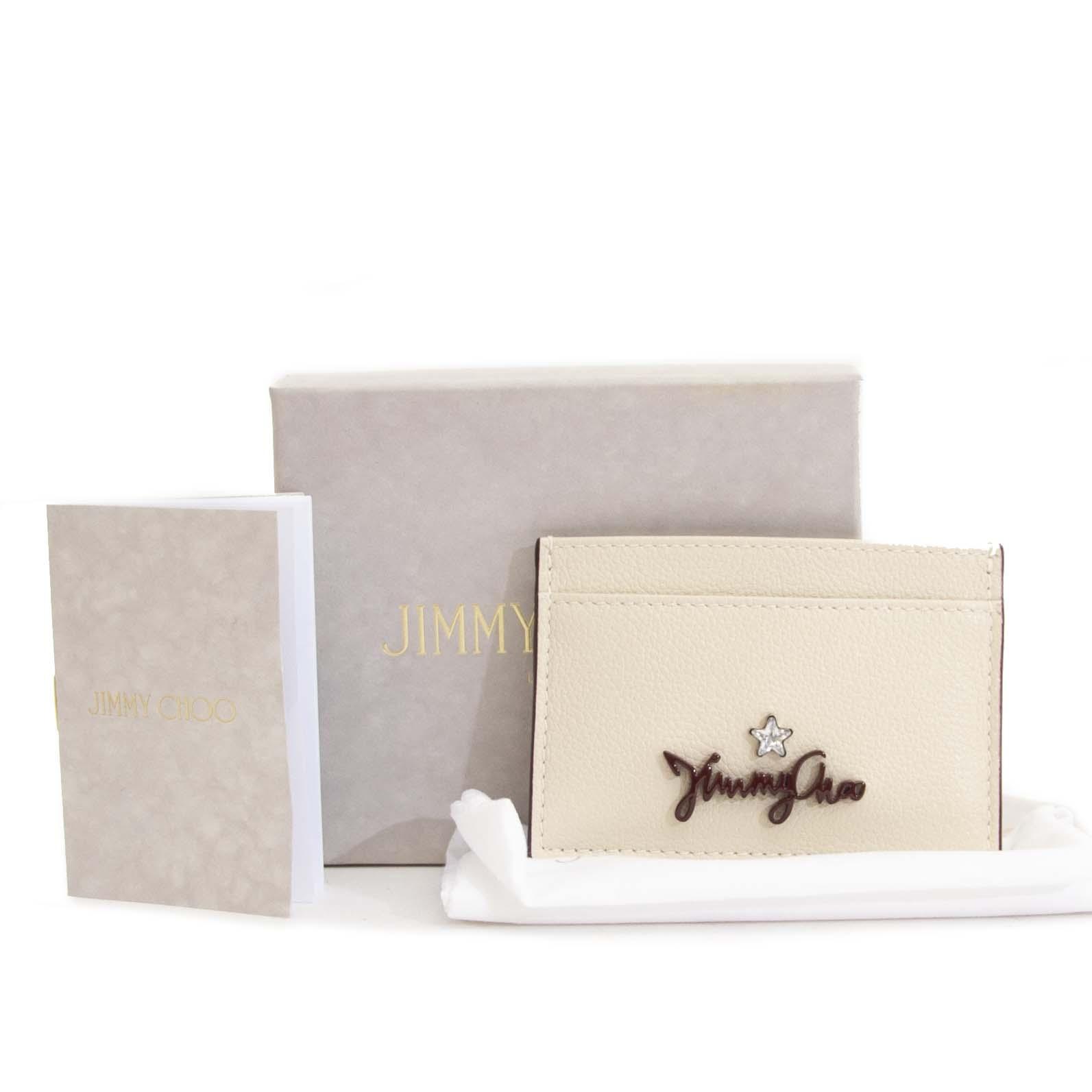 Jimmy Choo Linen Aries Cardholder kopen en verkopen aan de beste prijs