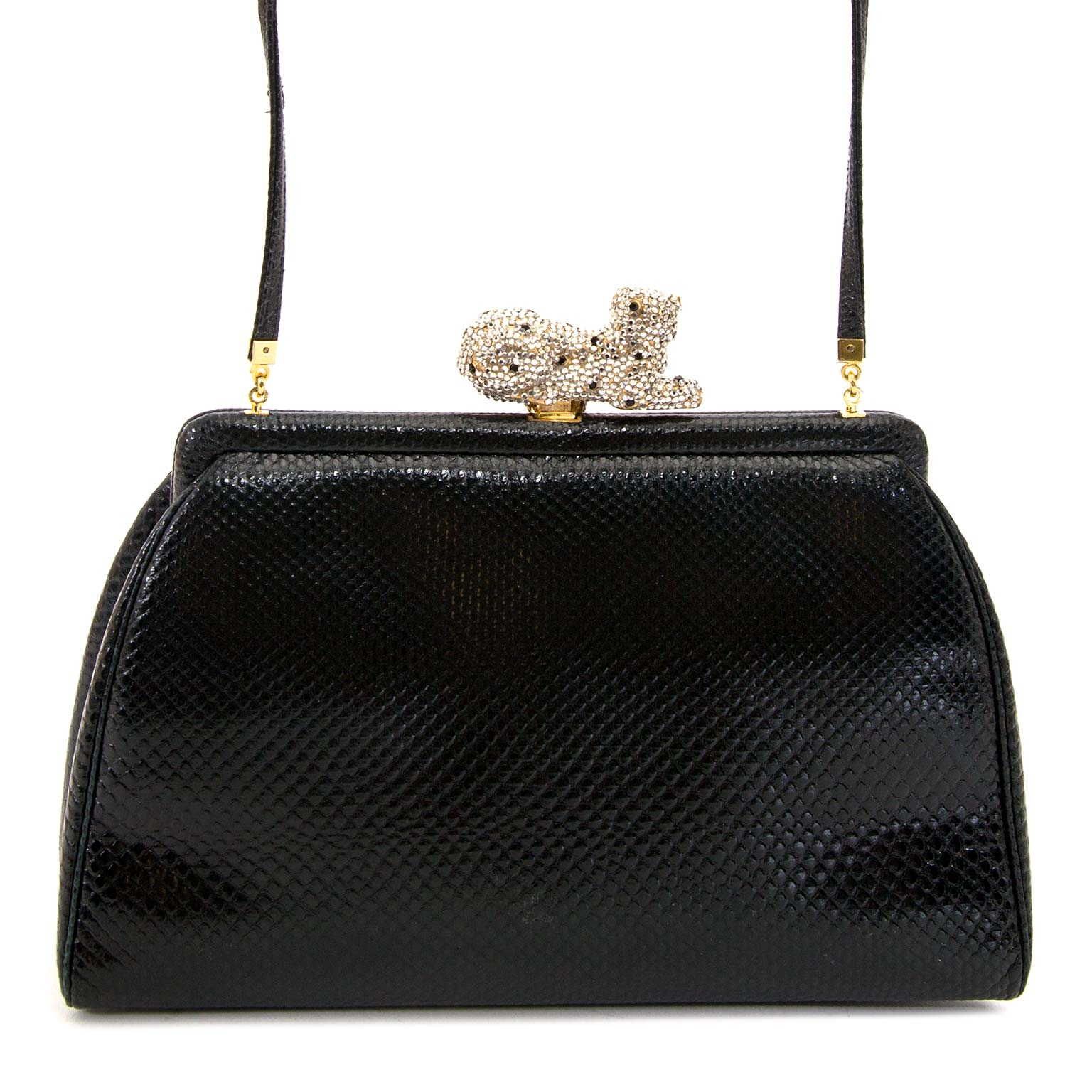 8b9ce5b7f0a9 ... buy Judith Leiber Black Leather Crossbody bag at labellov for the best  price