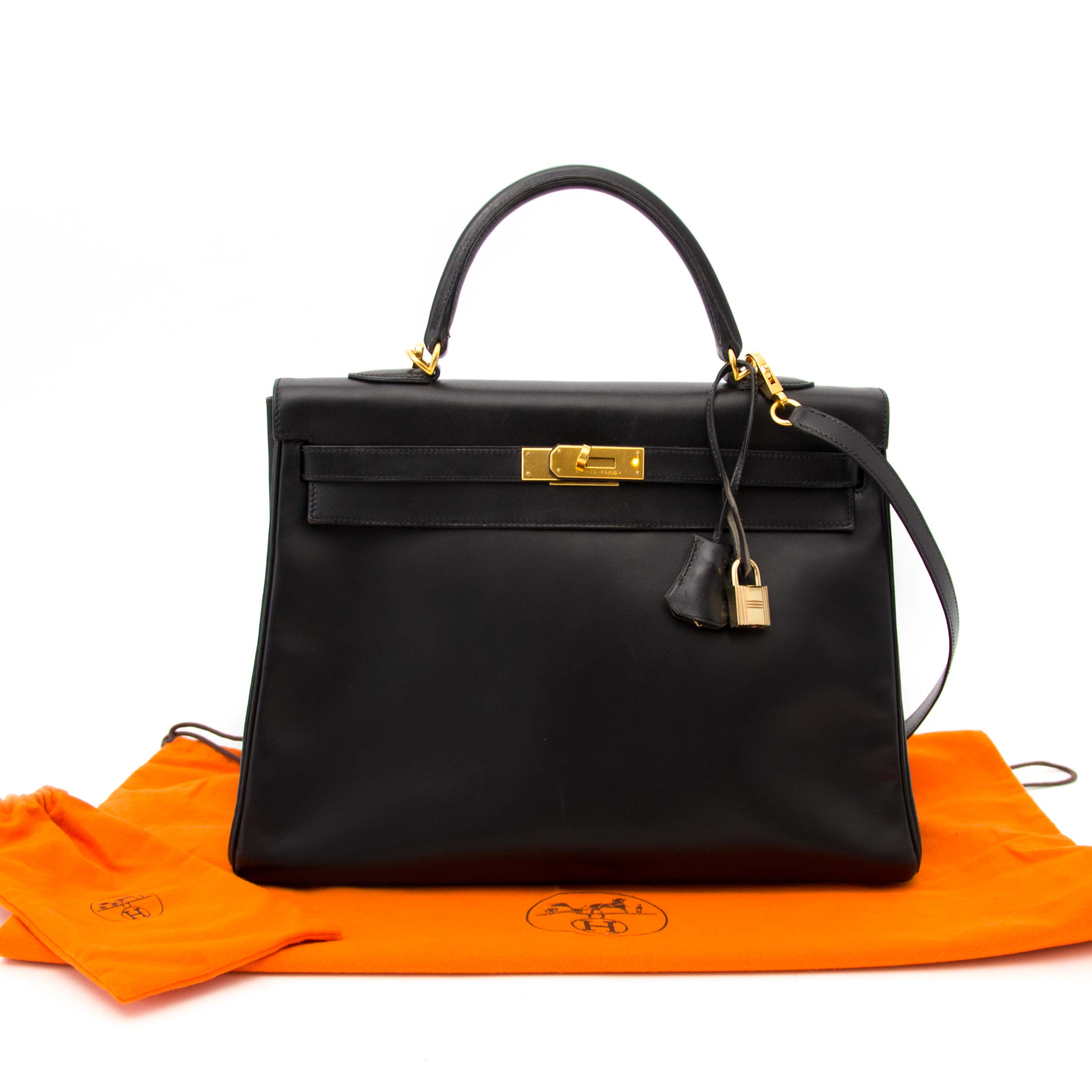 100% authentic hermes kelly 35 boxcalf black now online at labellov.com in antwerp