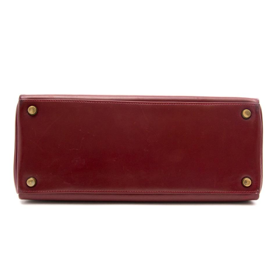 acheter en ligne pour le meilleur prix Hermes Kelly Rouge Hermes Boxcalf 28 + Strap