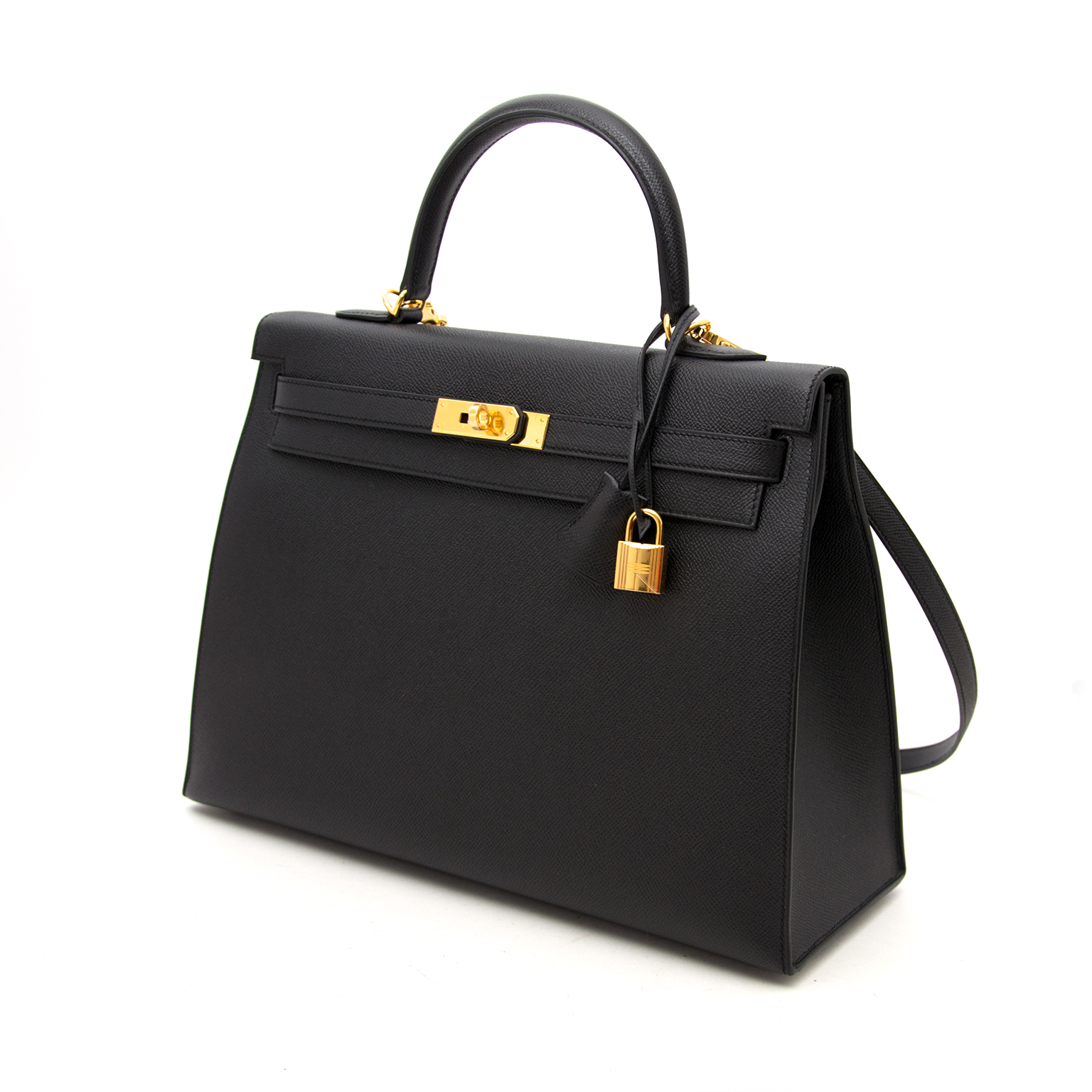Buy safe and secure online at labellov.com brand new hermes kelly 35 ll sellier epsom noir