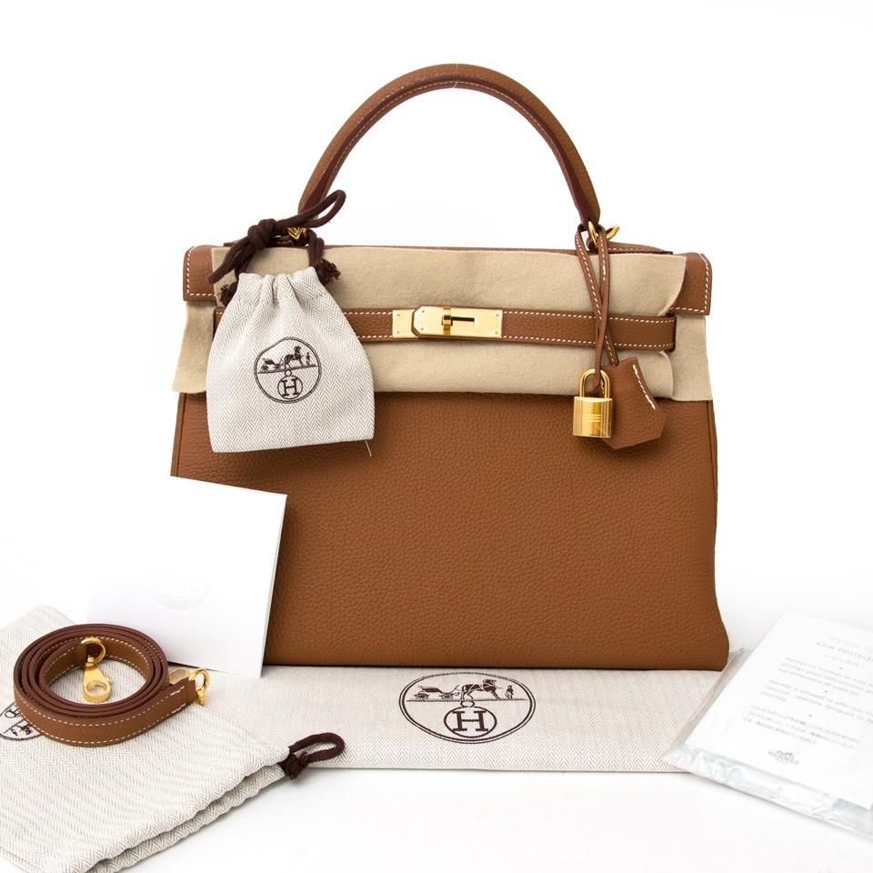 d1e5296244533 ... shop safe online at the best price Brand New Hermes Kelly Retourne 32 Togo  GHW like