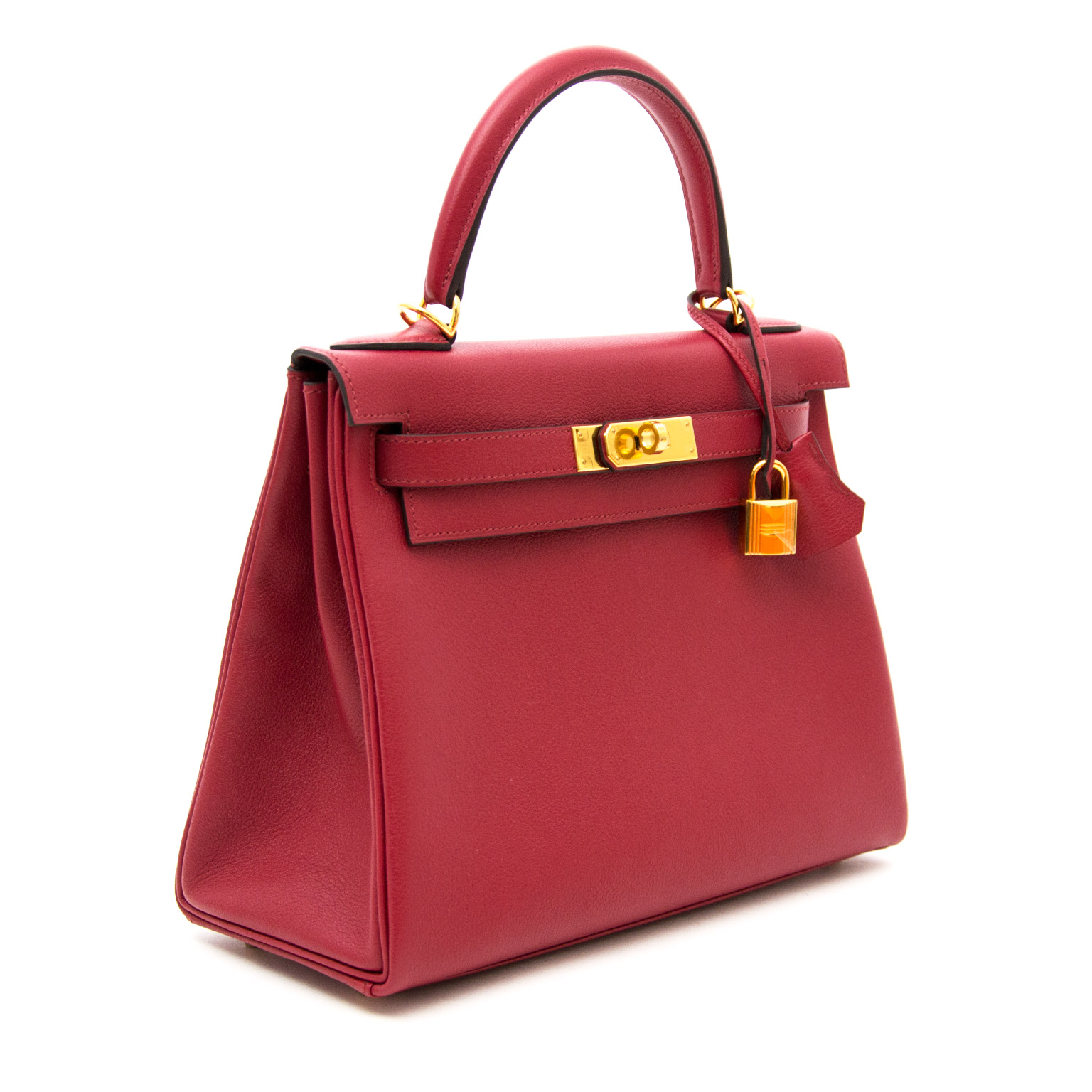 Buy safe and secure online at labellov.com Hermès Kelly Retourne 28cm Evercolor Rouge Grenat