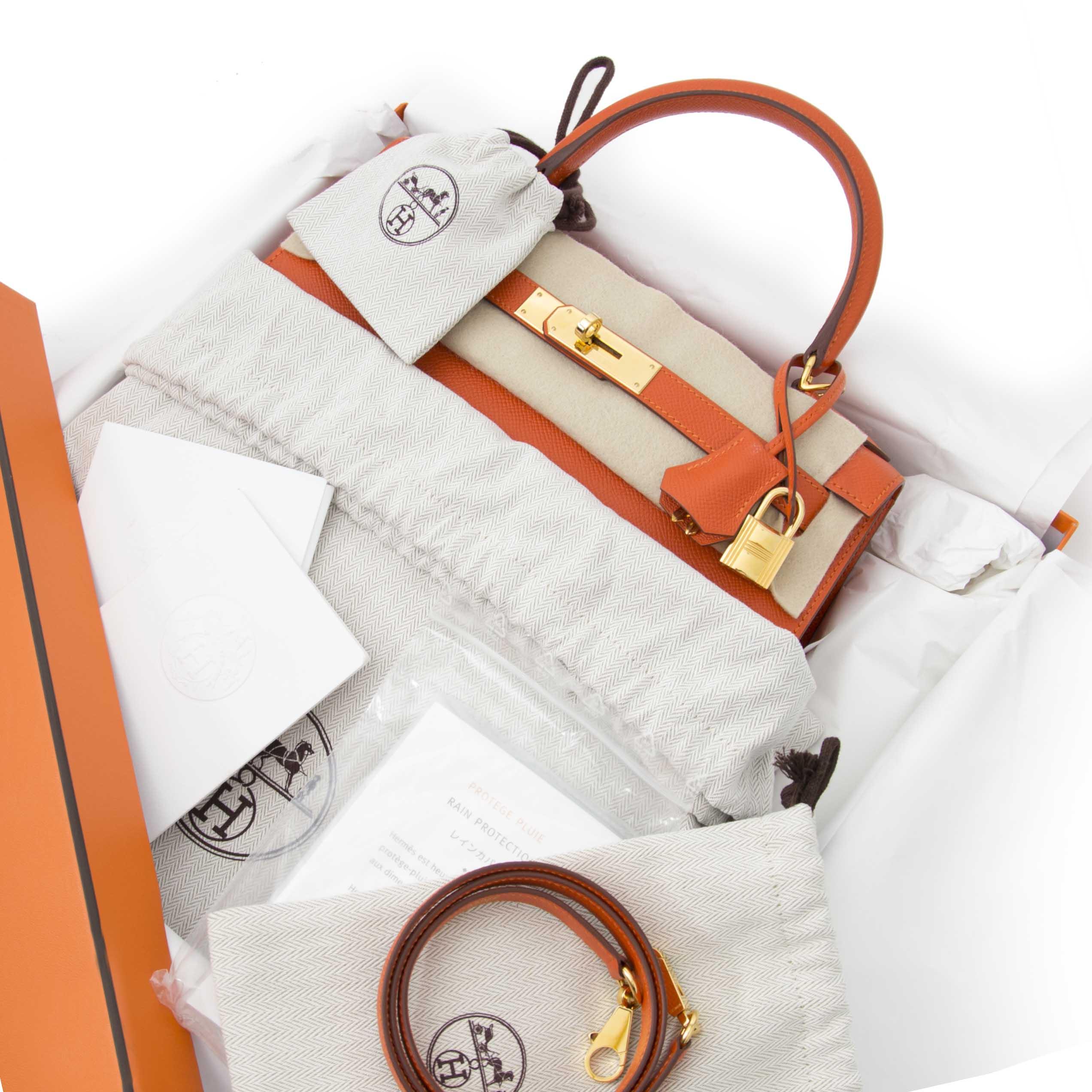 koop veilig online aan de beste prijs Hermes Kelly Sellier 28 Epsom Feu