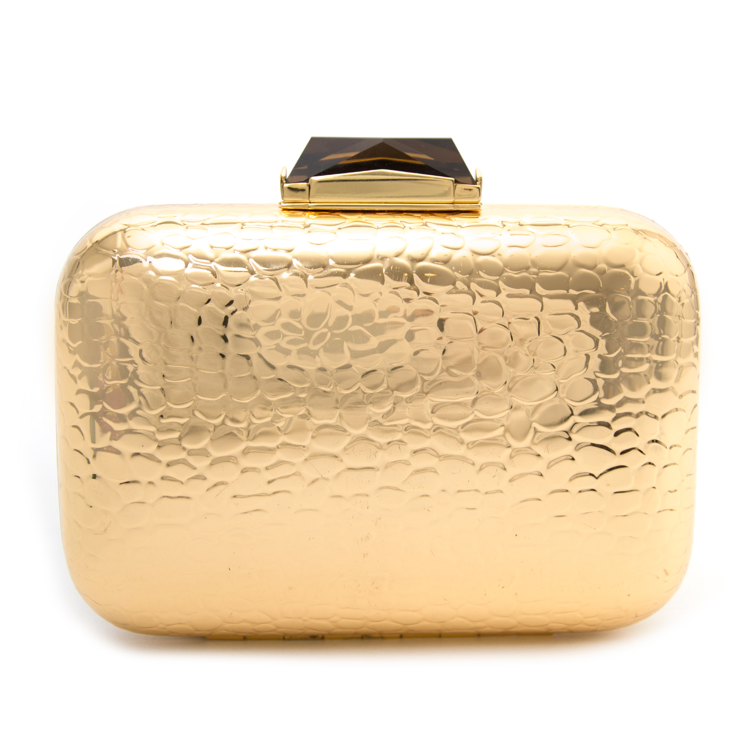 Looking to buy a new authentic Kotur Morley Croc Embossed Gold Metal Box Clutch?