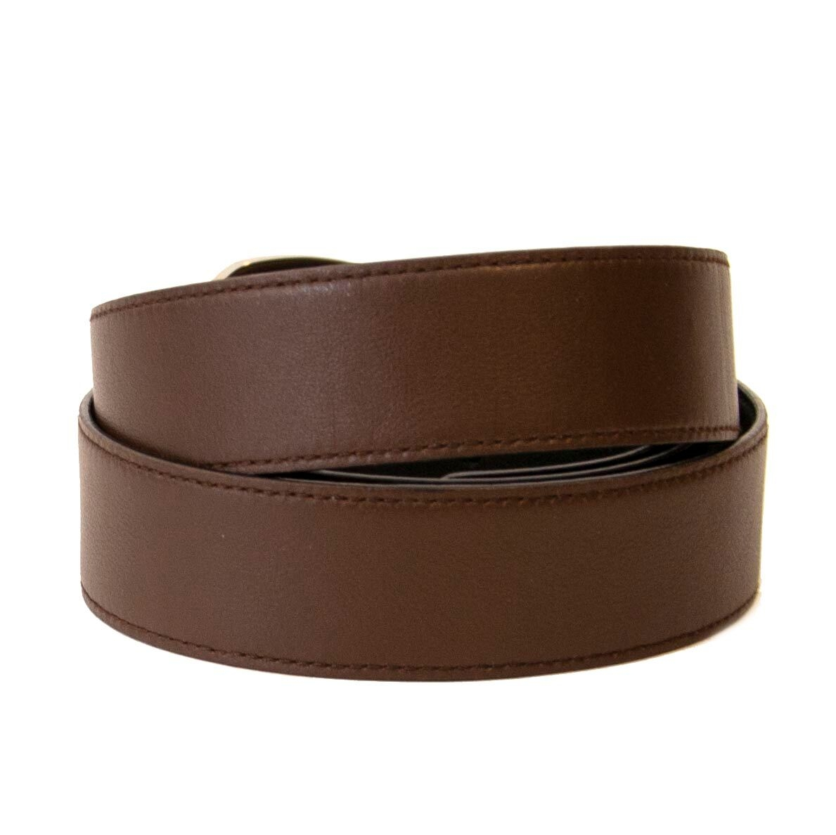 Buy this authentic second-hand Ferragamo Dark Brown Leather Belt at online webshop LabelLOV.