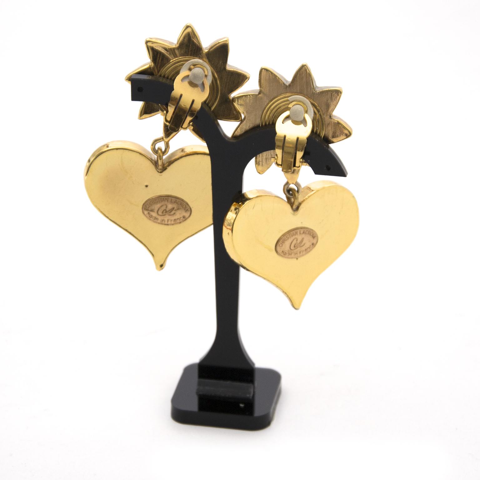 Christian Lacroix Star Heart Clip-On Earrings voor de beste prijs bij Labellov.com