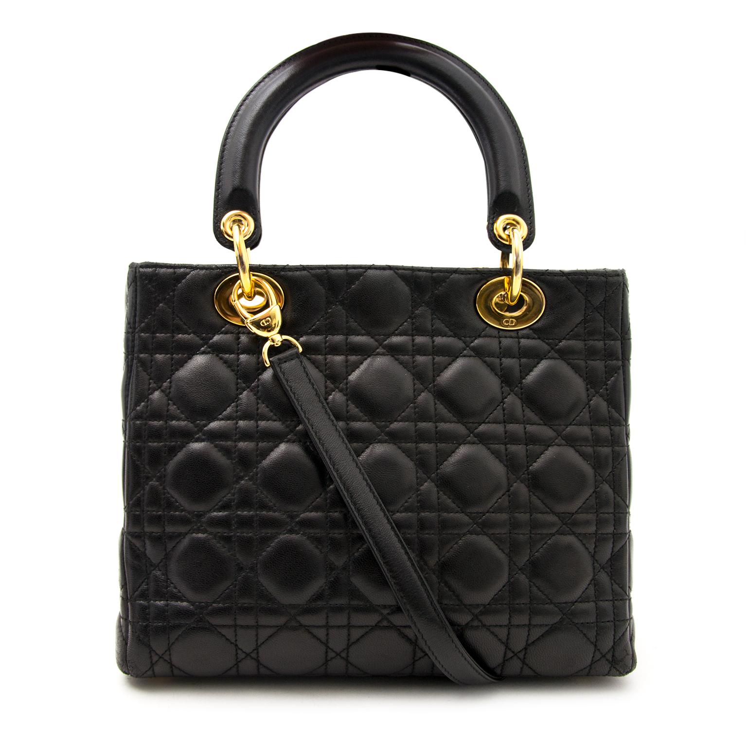 koop veilig online aan de beste prijs Christian Dior Lady Dior lambskin