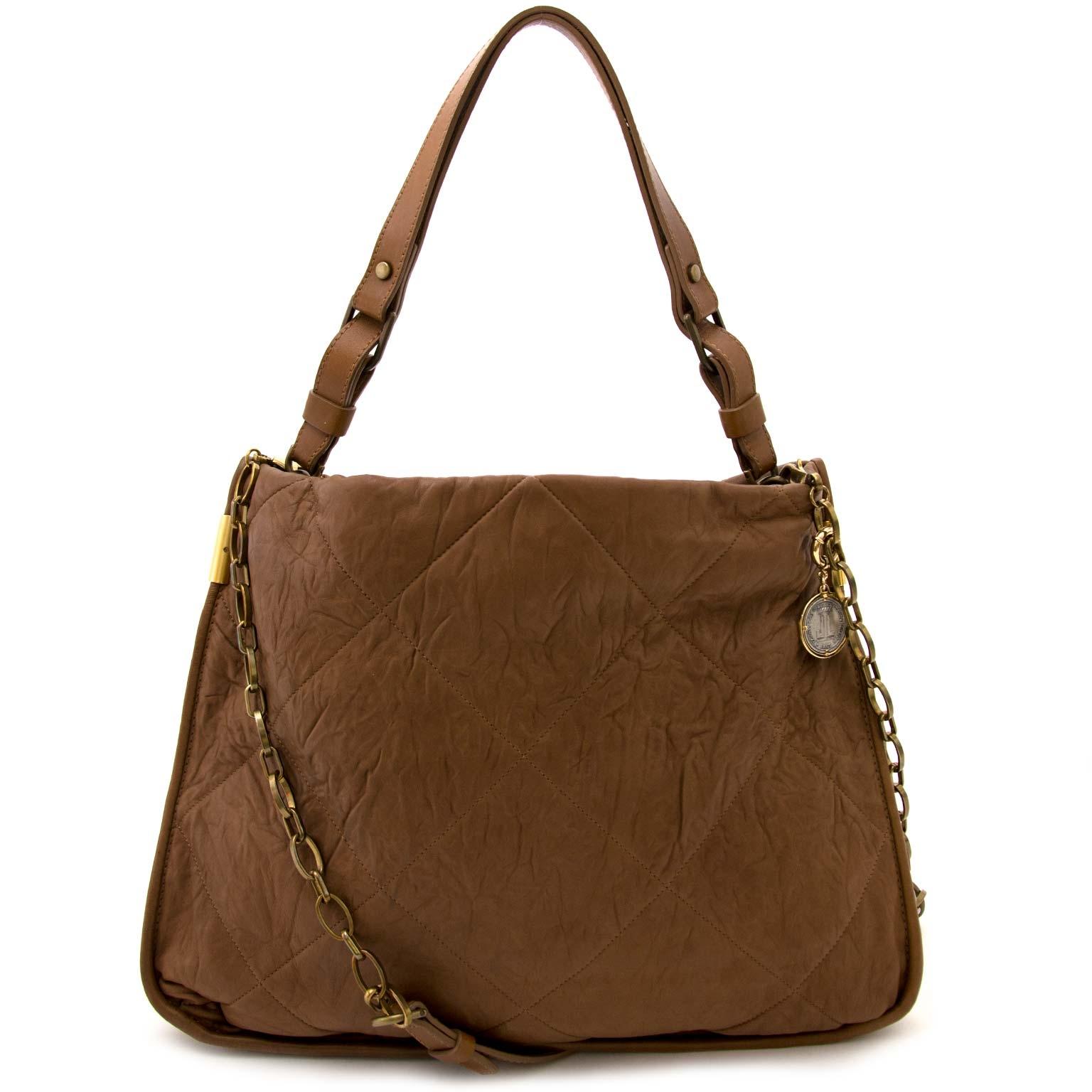koop online tegen de best eprijs Lanvin Cognac Shouderl Bag