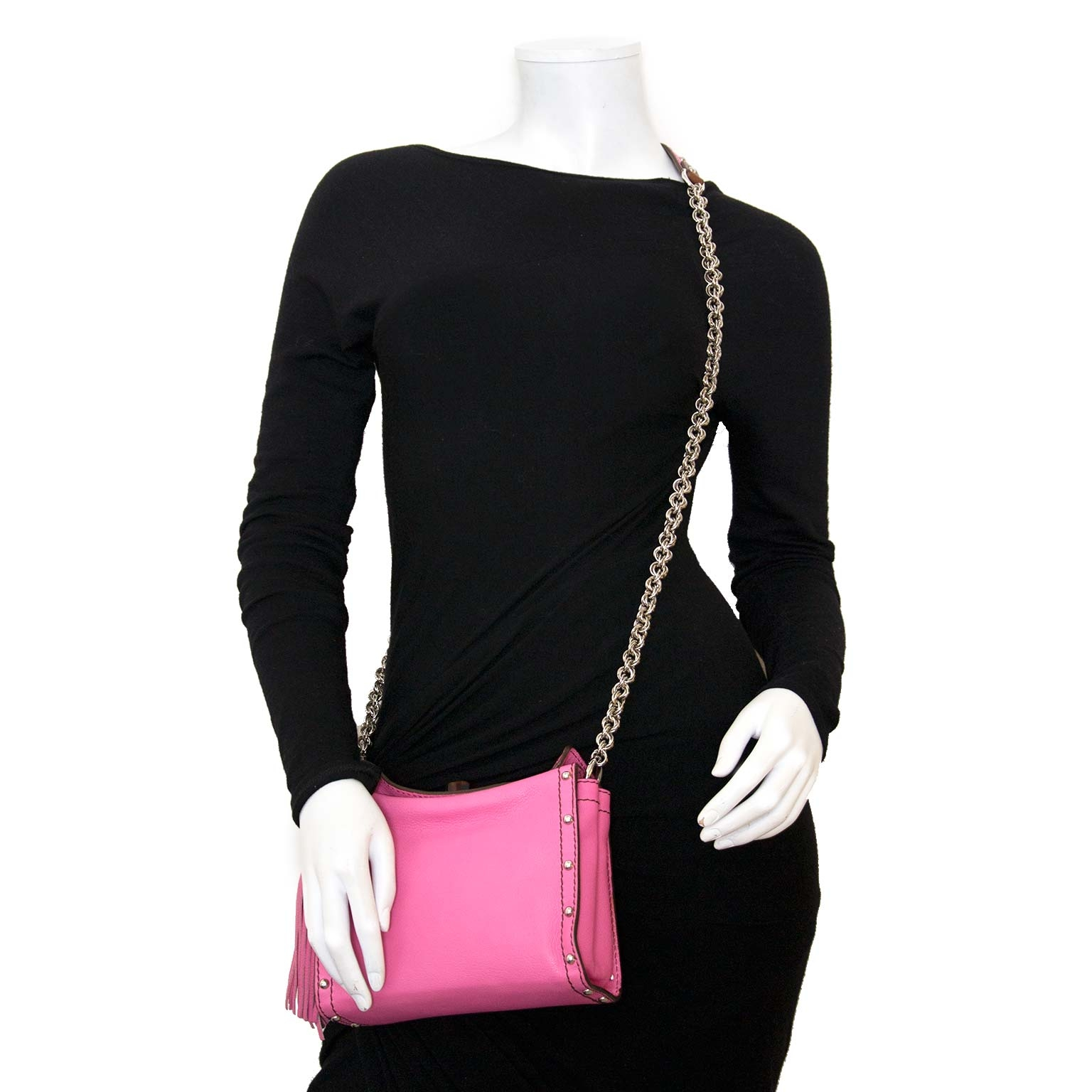How to style Lanvin Pink Leather Chain Strap