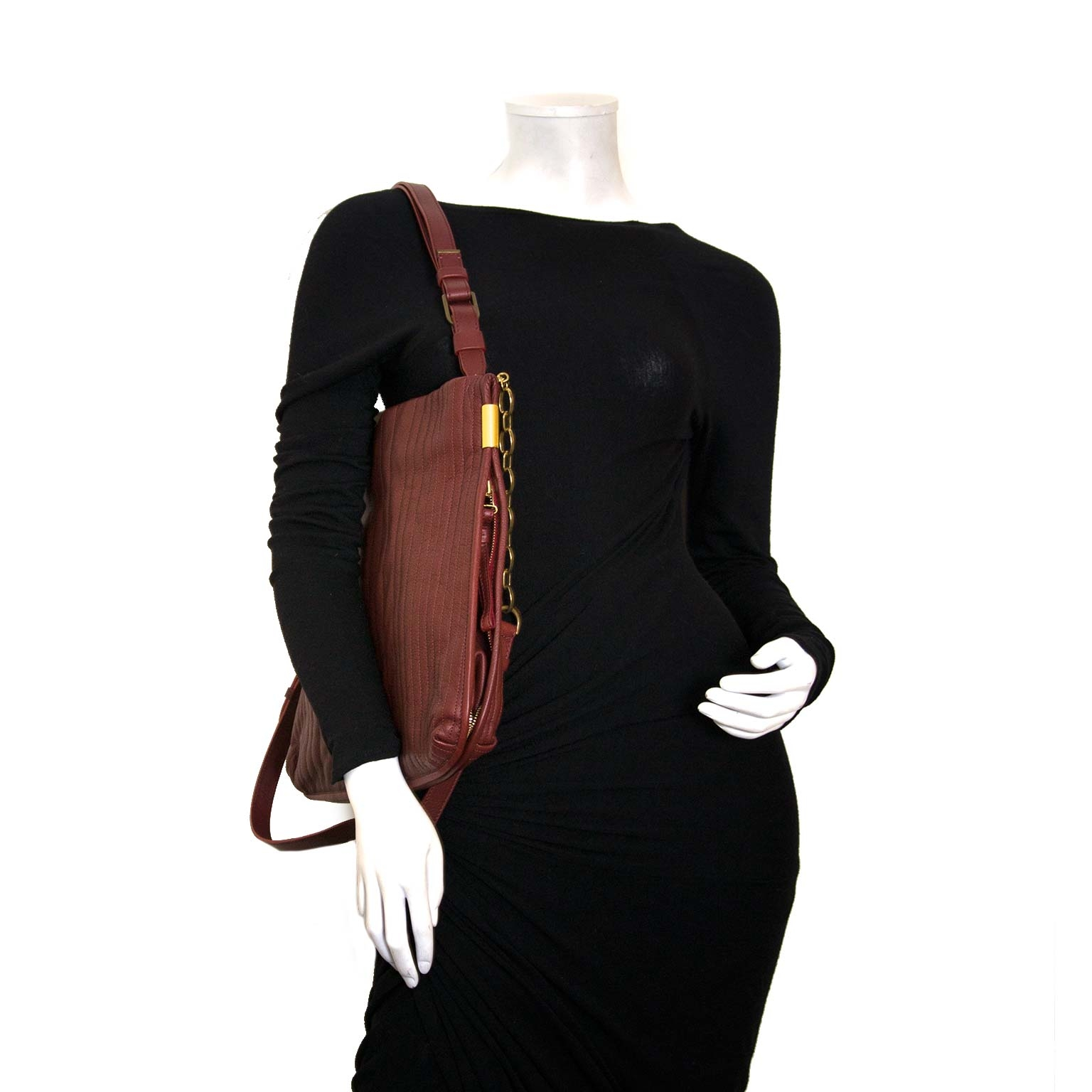 koop authentieke lanvin bordeaux tas at labellov vintage mode webshop belgië