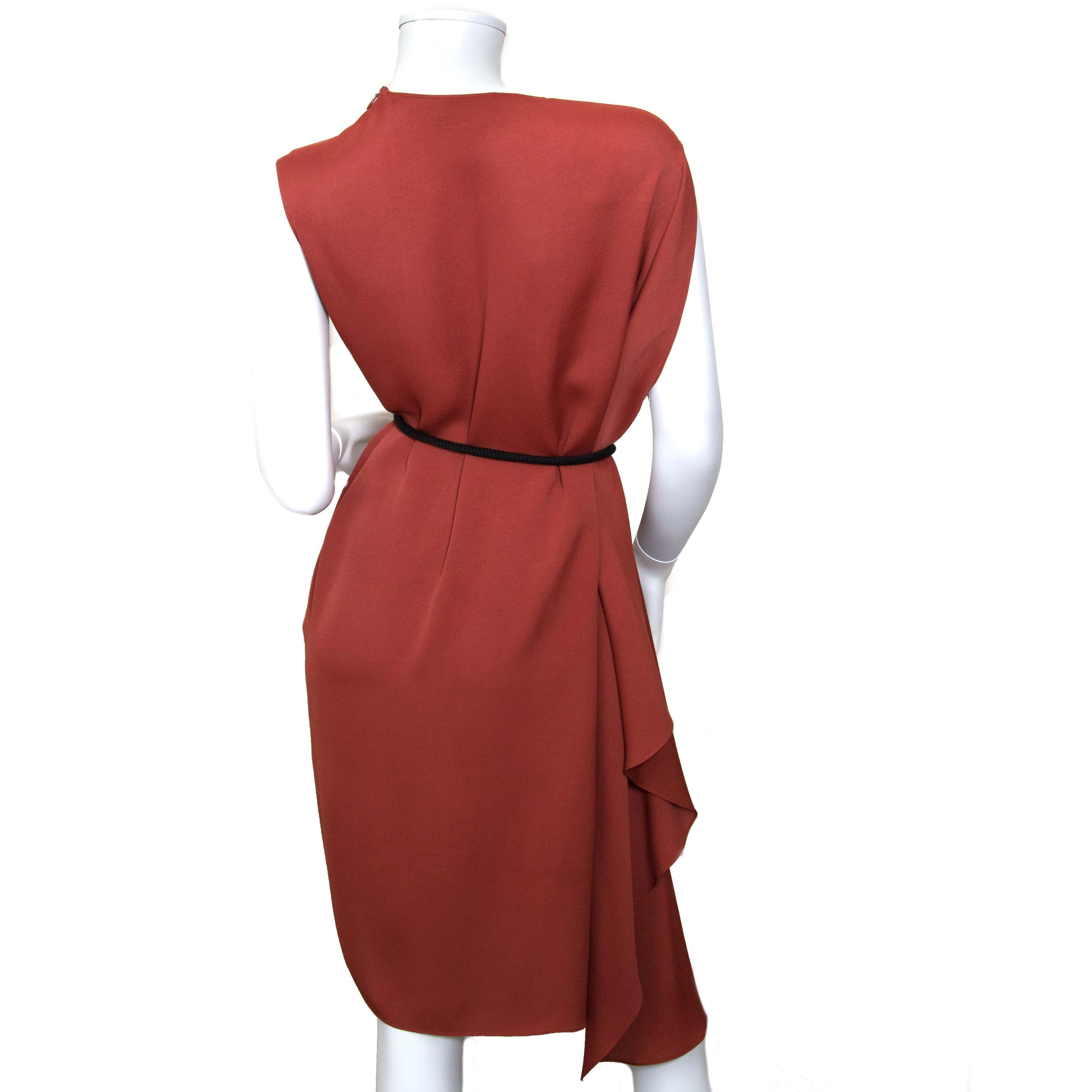 lanvin terracotta dress now for sale at labellov vintage fashion webshop belgium