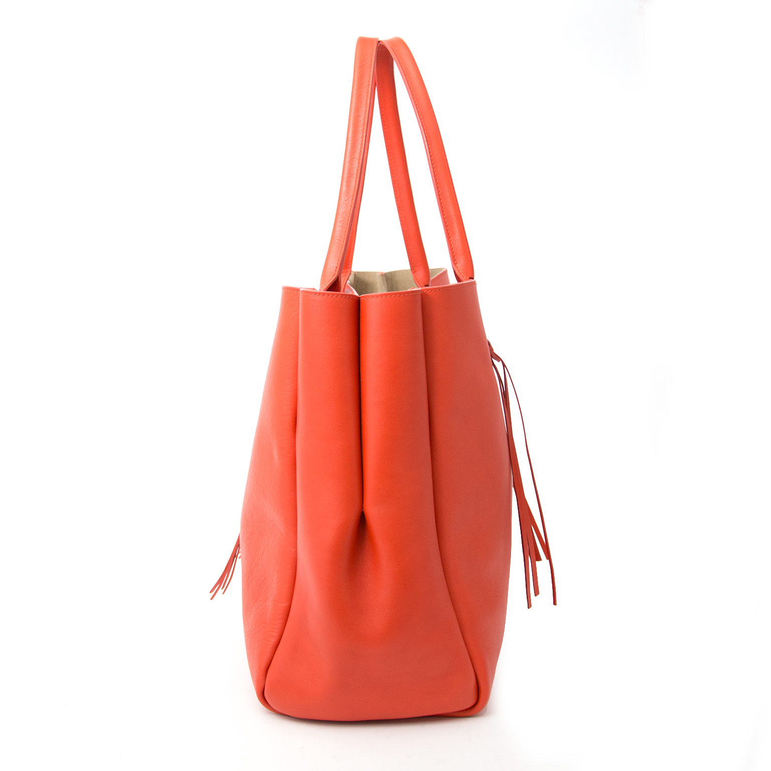 shop online at the best price Lanvin Orange Fringed The Shopper