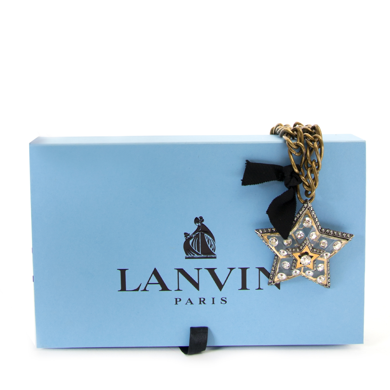 Lanvin Altair Stars Brooch Necklace now for sale at labellov vintage fashion webshop belgium